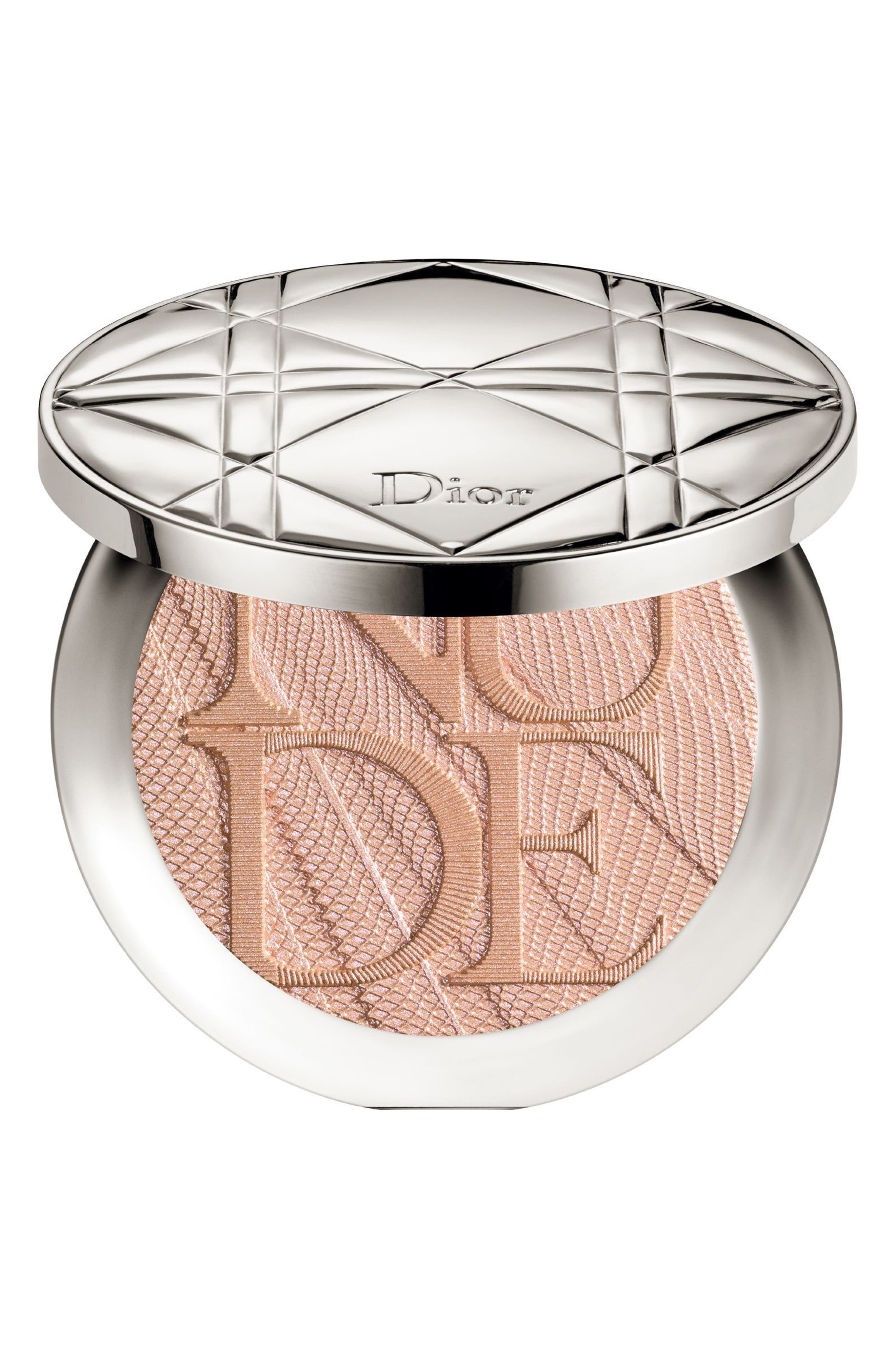 Diorskin Nude Air Luminizer Glow Addict Holographic Sculpting Powder,                         Main,                         color, 002 HOLO GOLD