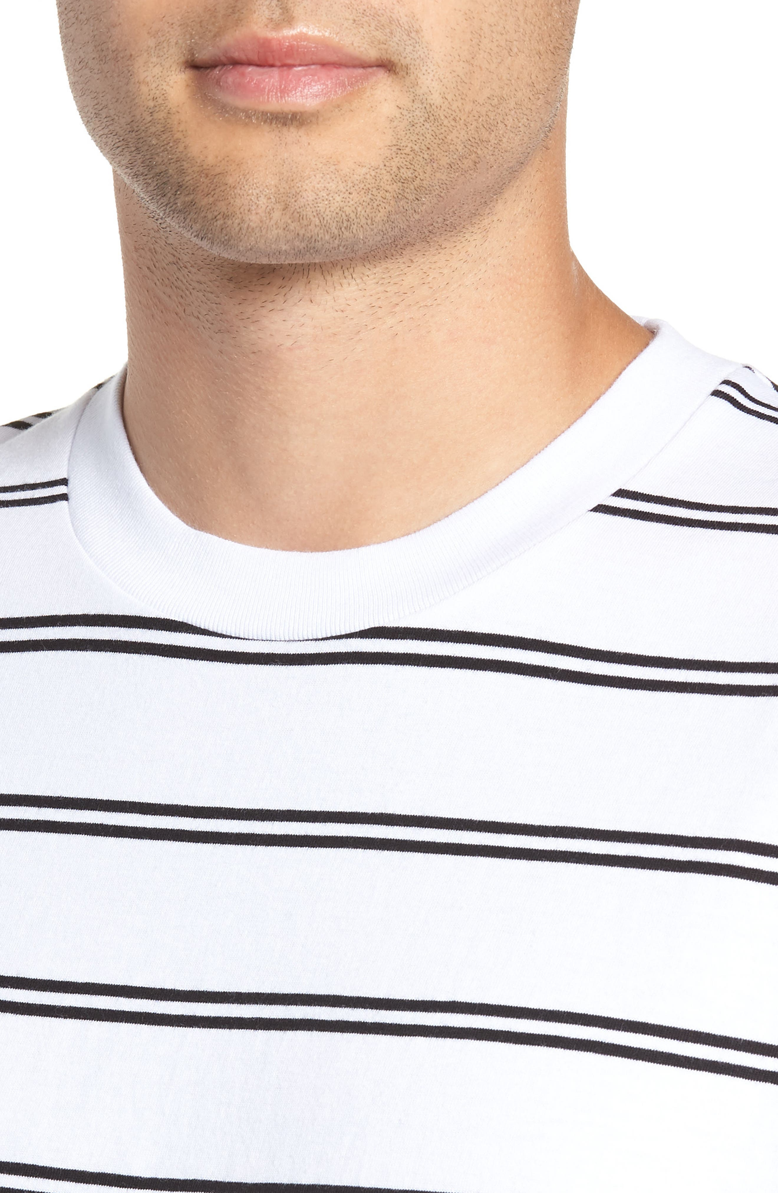 Channel Box Long Sleeve T-Shirt,                             Alternate thumbnail 4, color,                             100