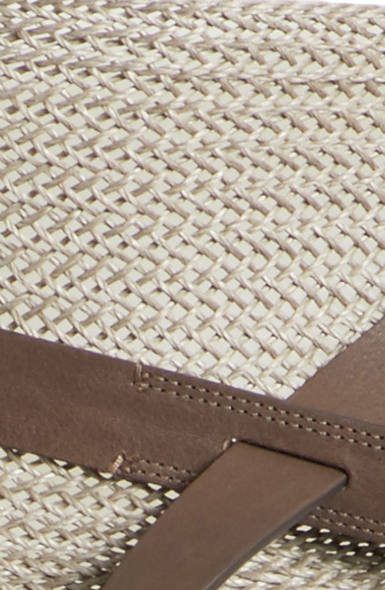 Obi Linen & Leather Belt,                             Alternate thumbnail 3, color,                             NIGHTINGALE