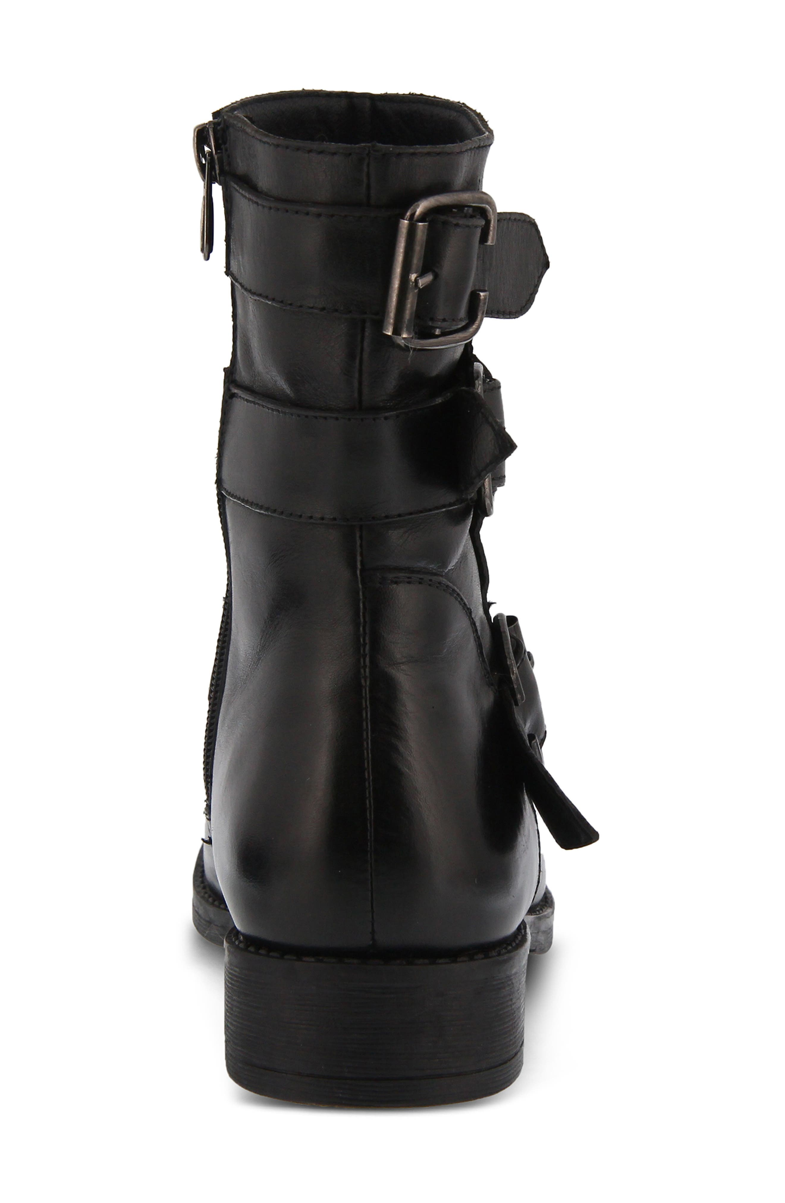 Diony Engineer Bootie,                             Alternate thumbnail 2, color,                             BLACK LEATHER