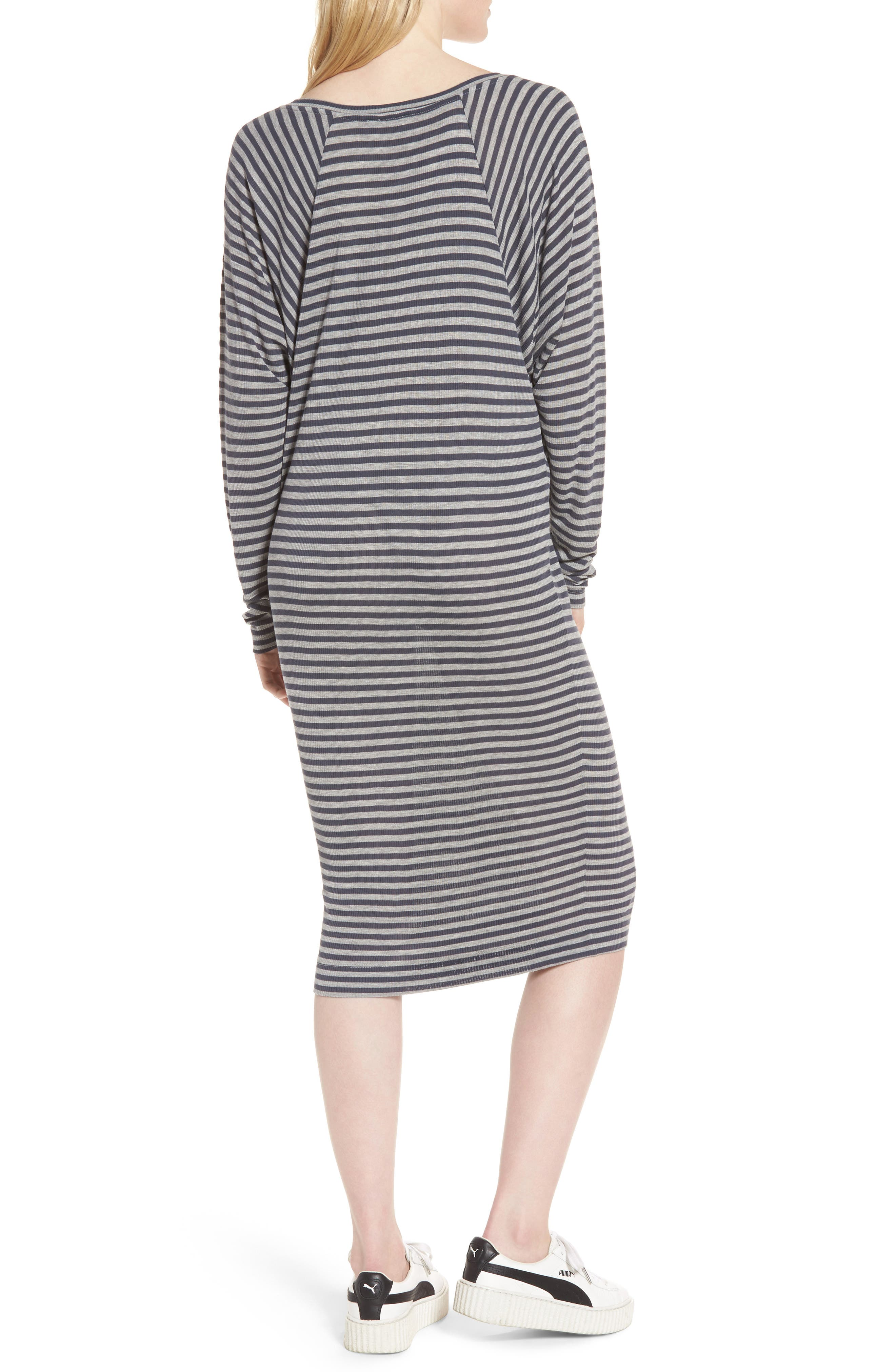 Raglan Midi Dress,                             Alternate thumbnail 2, color,                             486