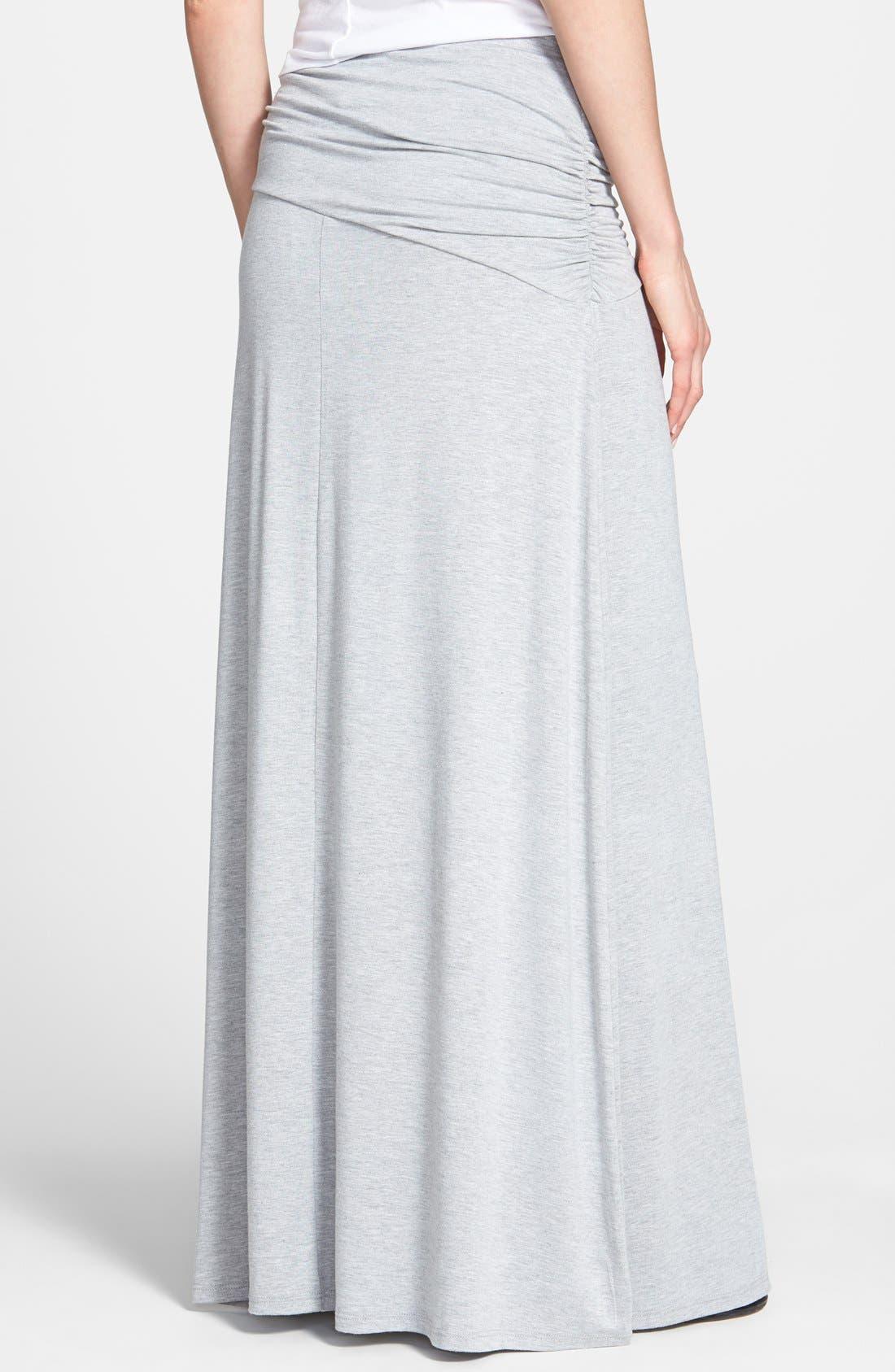 Asymmetric Knit Maxi Skirt,                             Alternate thumbnail 16, color,