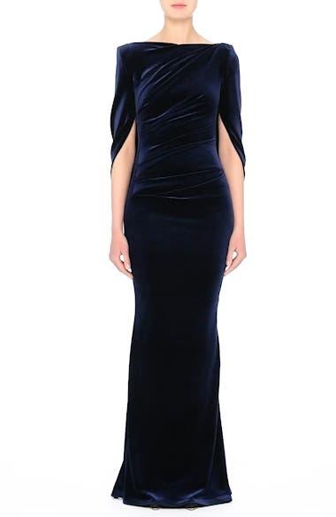 Velvet Column Gown, video thumbnail