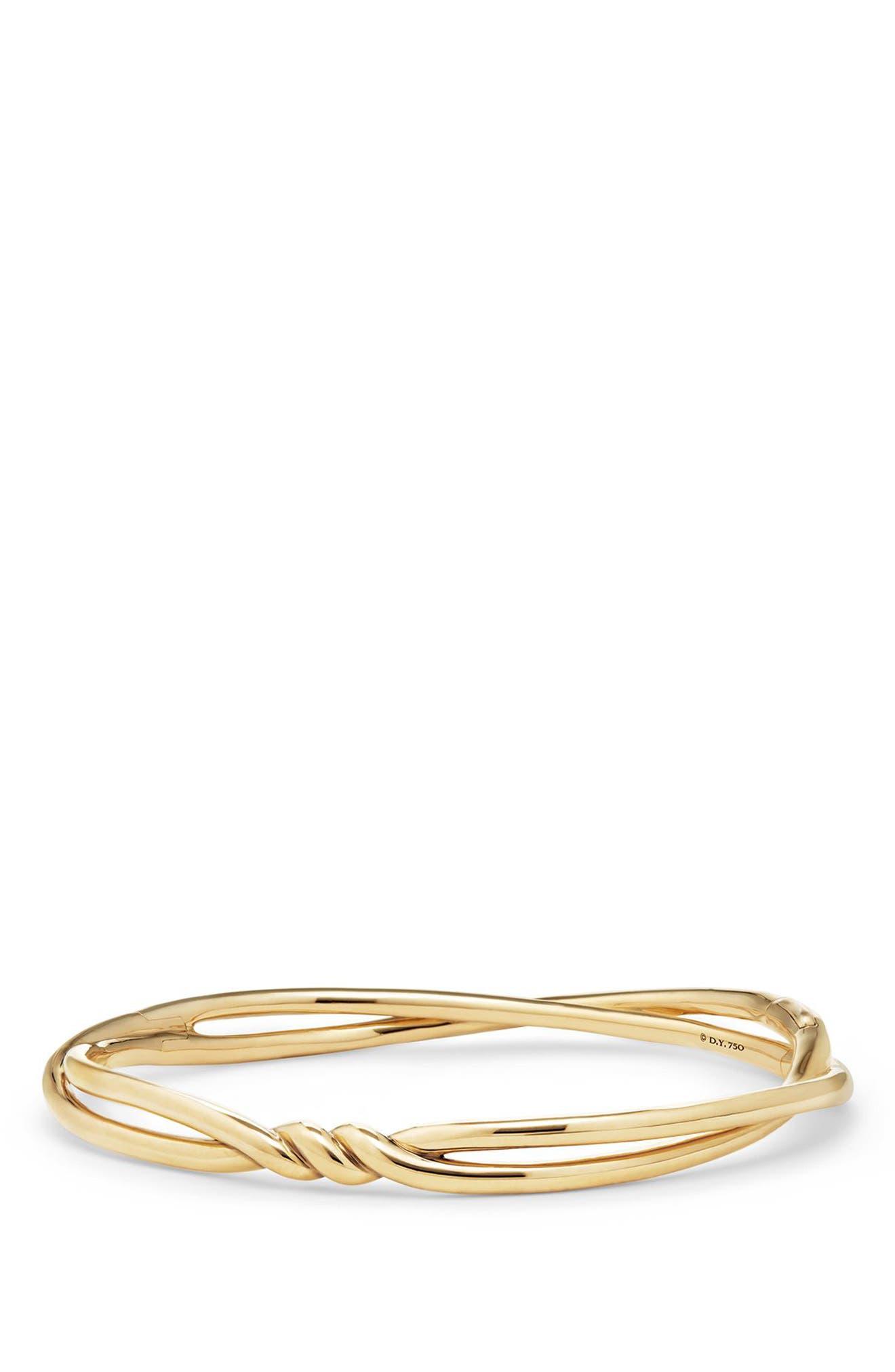 Continuance Center Twist Bracelet,                             Main thumbnail 1, color,                             YELLOW GOLD