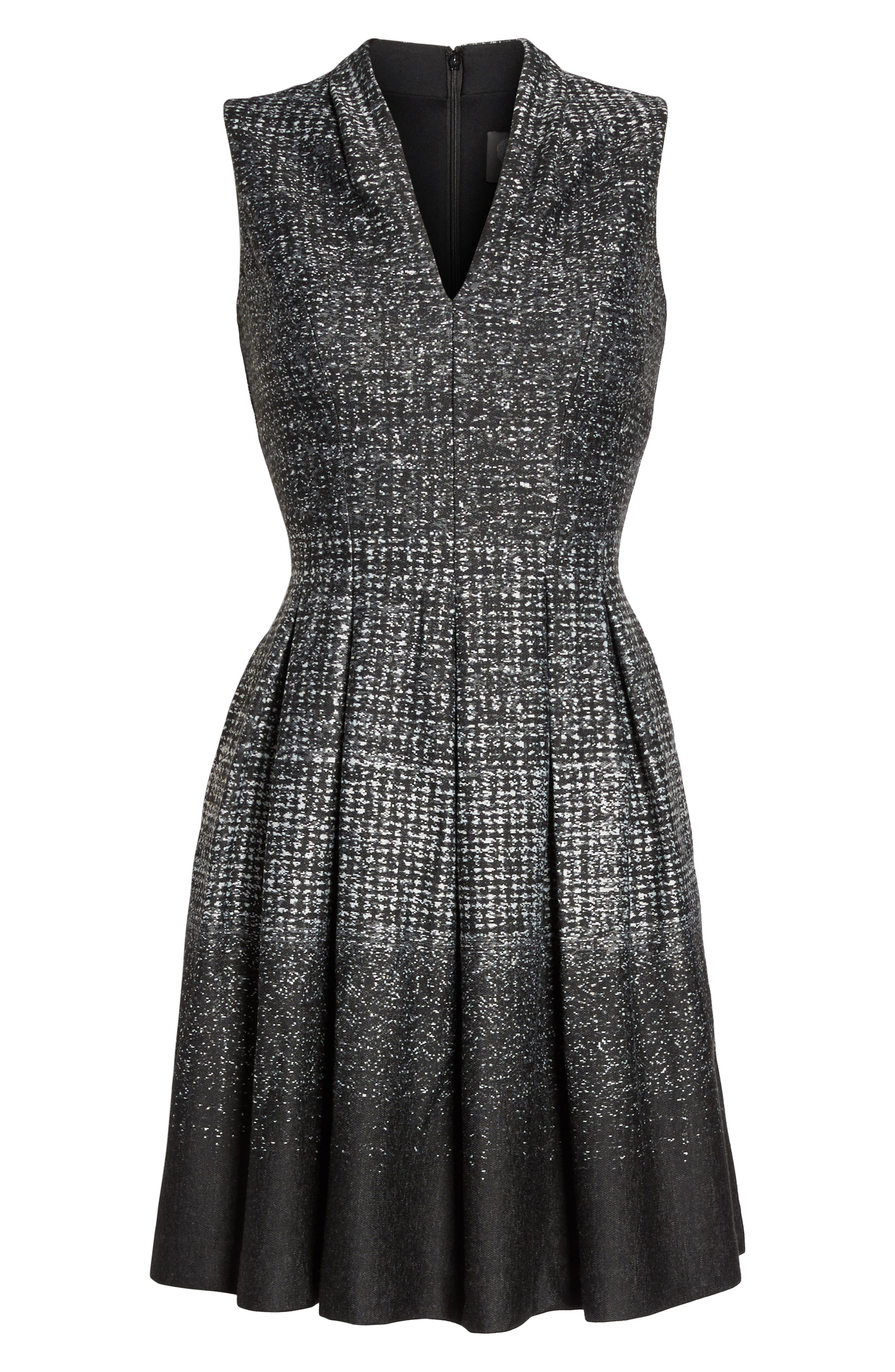 Sleeveless Fit & Flare Dress,                             Alternate thumbnail 6, color,