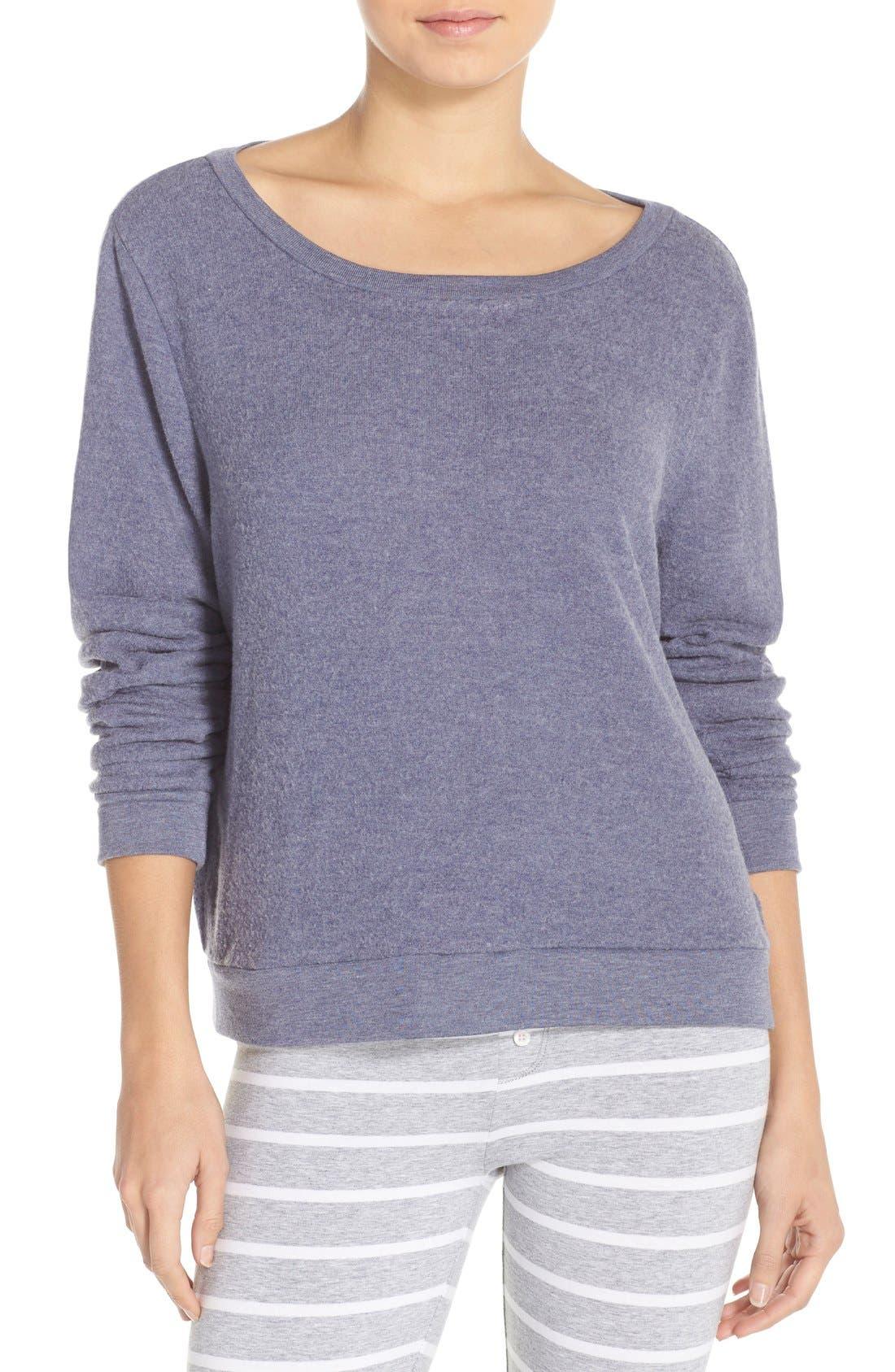 Brushed Hacci Sweatshirt,                             Main thumbnail 12, color,