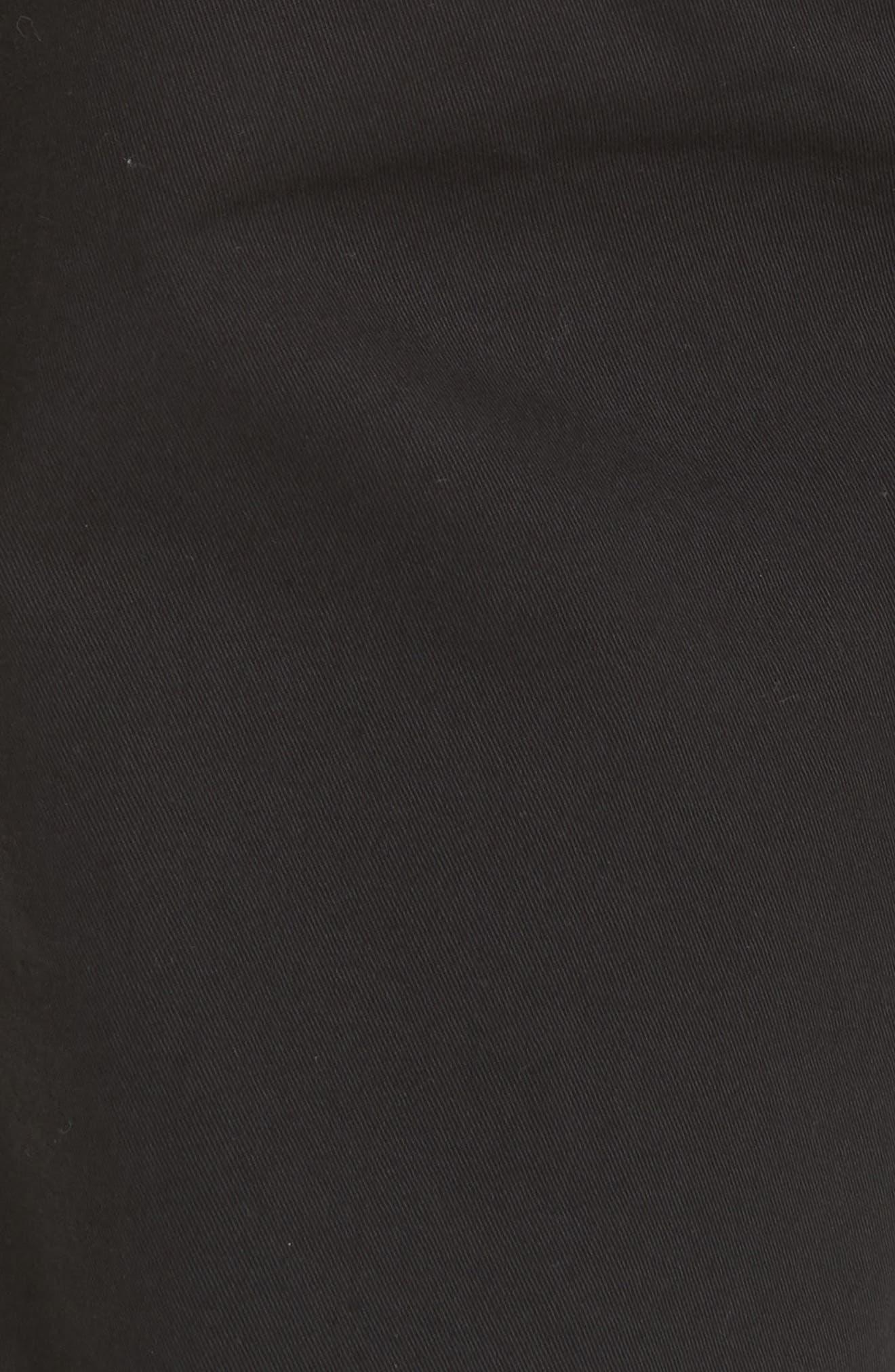 Aros Slim Fit Stretch Twill Pants,                             Alternate thumbnail 5, color,                             BLACK