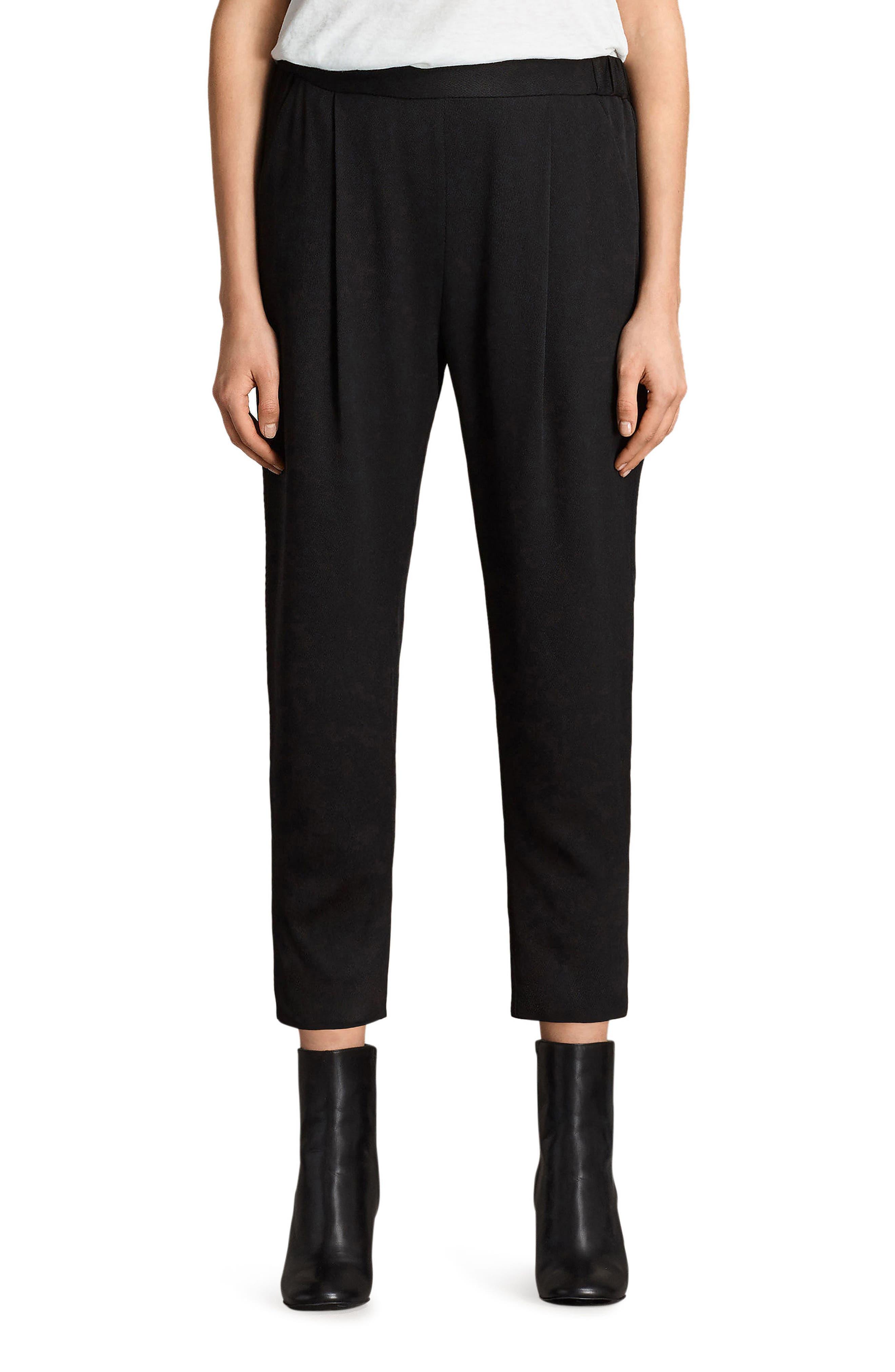 Aleida Pants,                         Main,                         color, BLACK