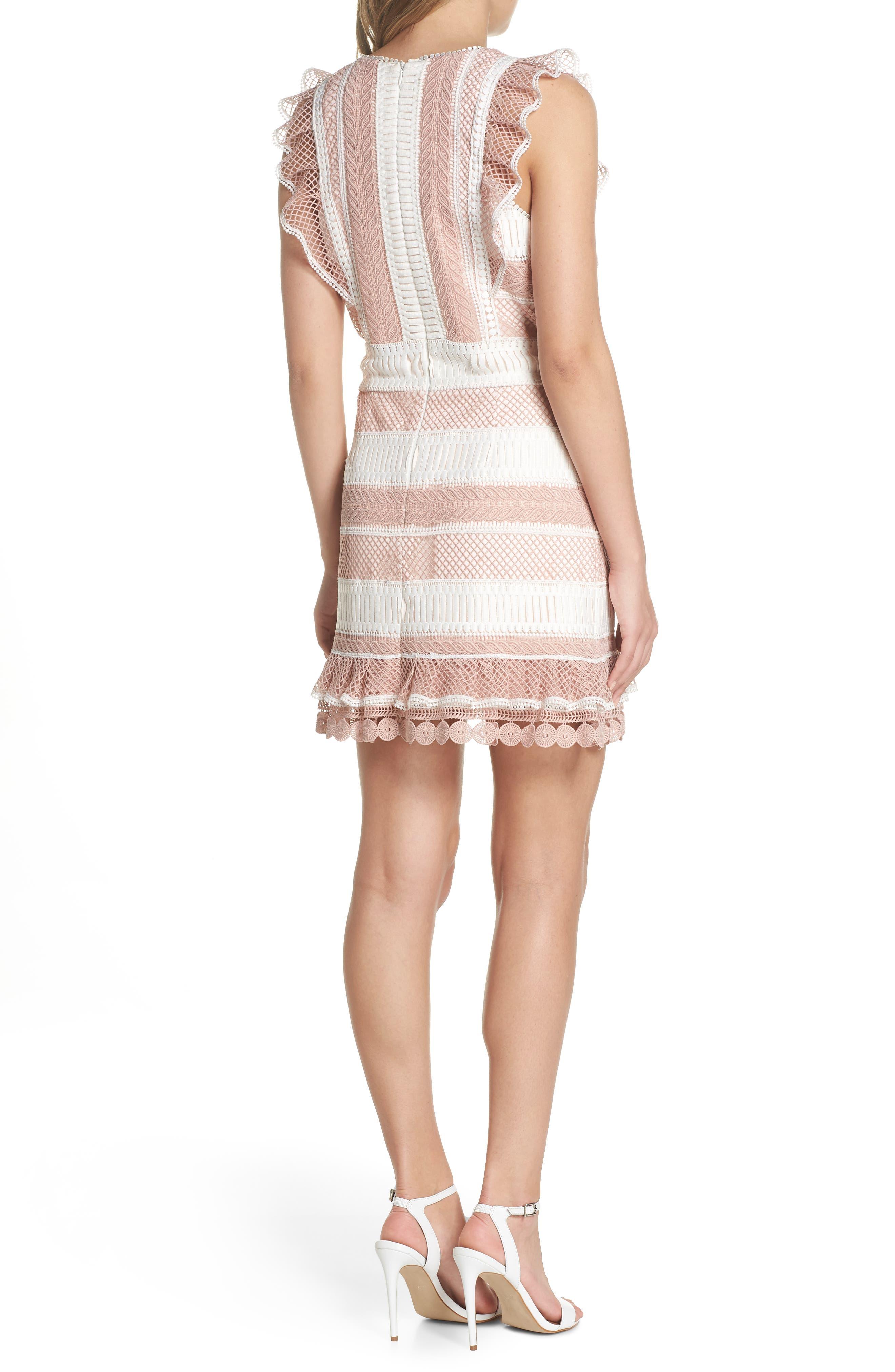 Kingston Stripe Lace Sheath Dress,                             Alternate thumbnail 2, color,                             661