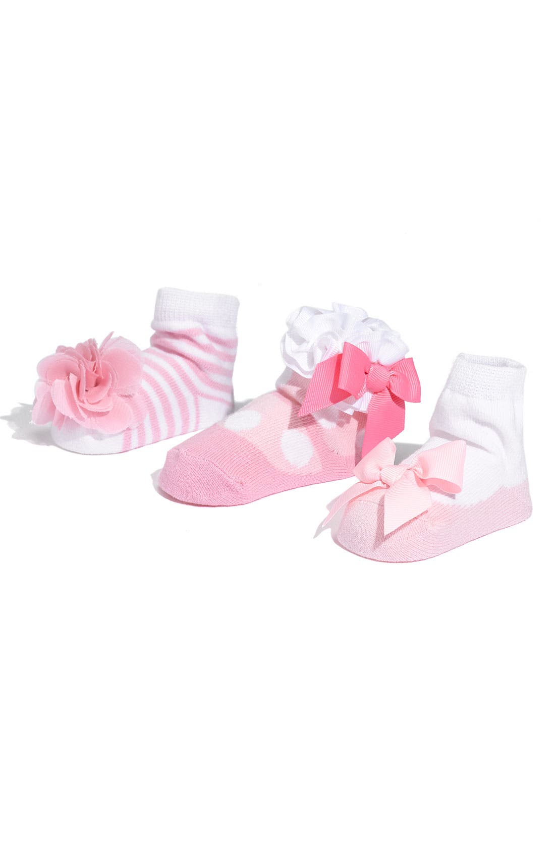 Socks Set,                         Main,                         color, NEW PINK/ WHITE