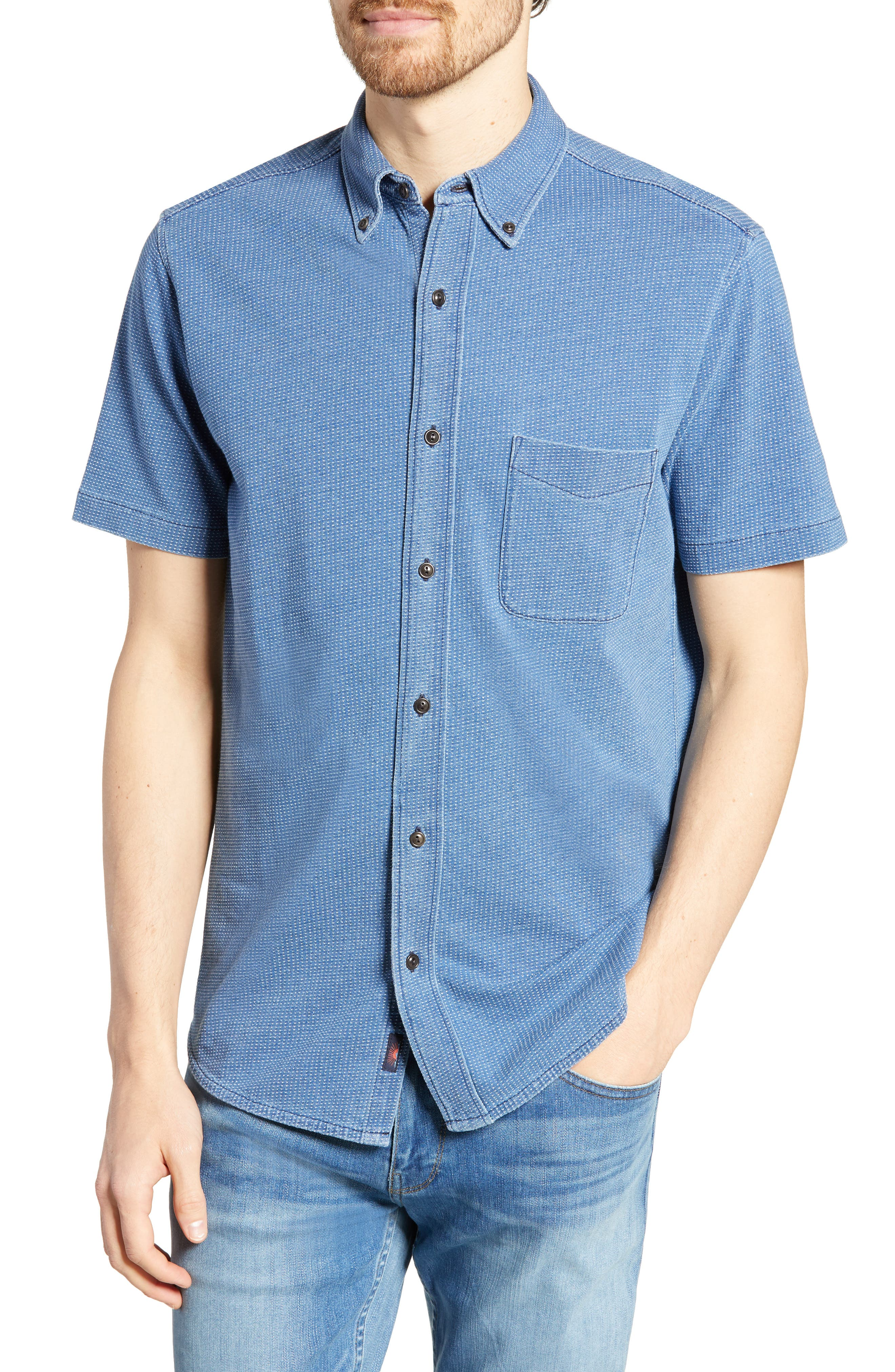 Faherty Pacific Regular Fit Sport Shirt, Blue