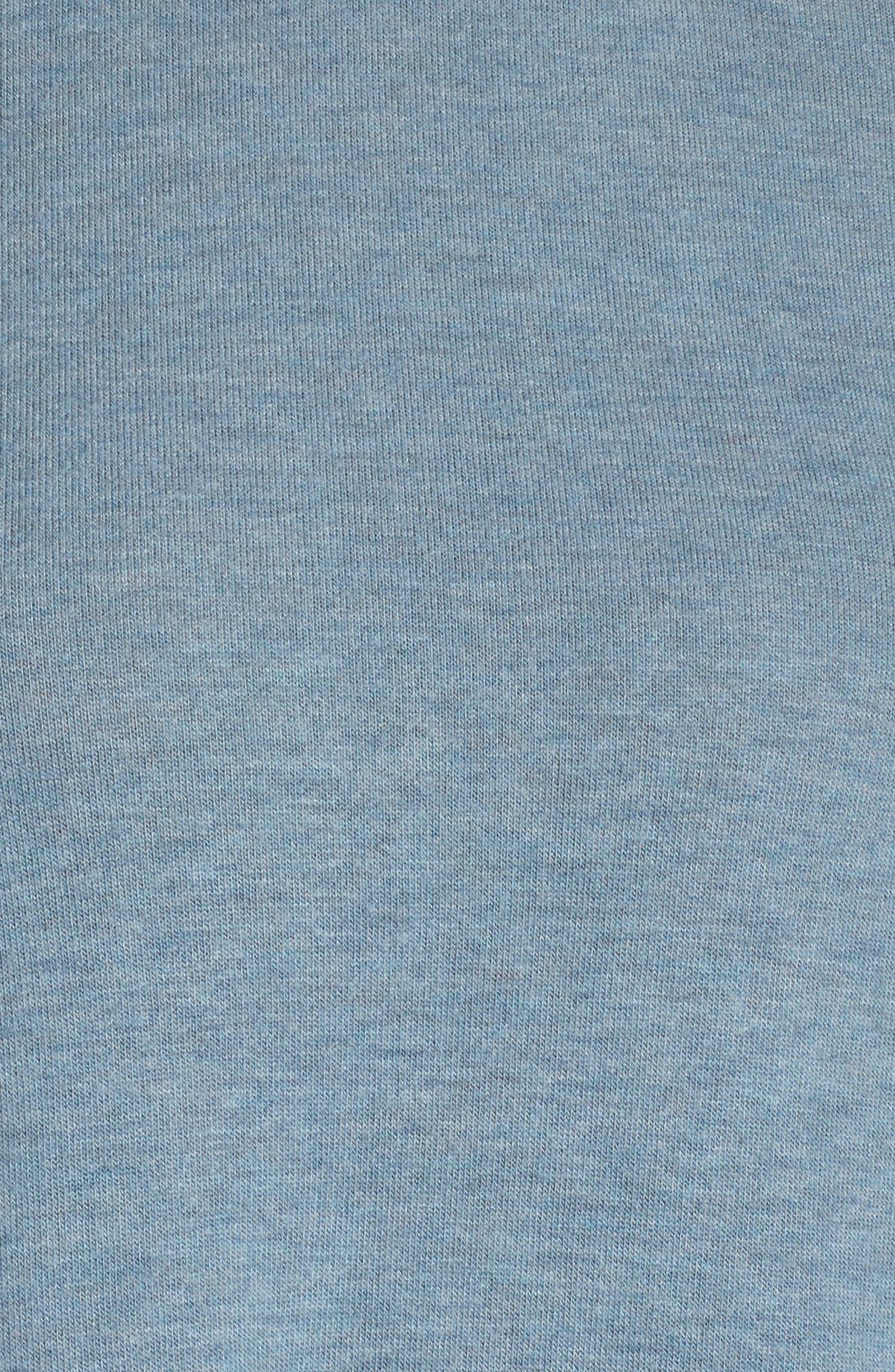 'Glimpse' Long Sleeve Top,                             Alternate thumbnail 6, color,                             CONCRETE HEATHER