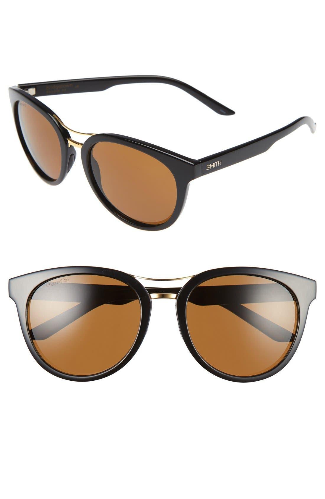 'Bridgetown' 54mm Aviator Sunglasses,                         Main,                         color, 001