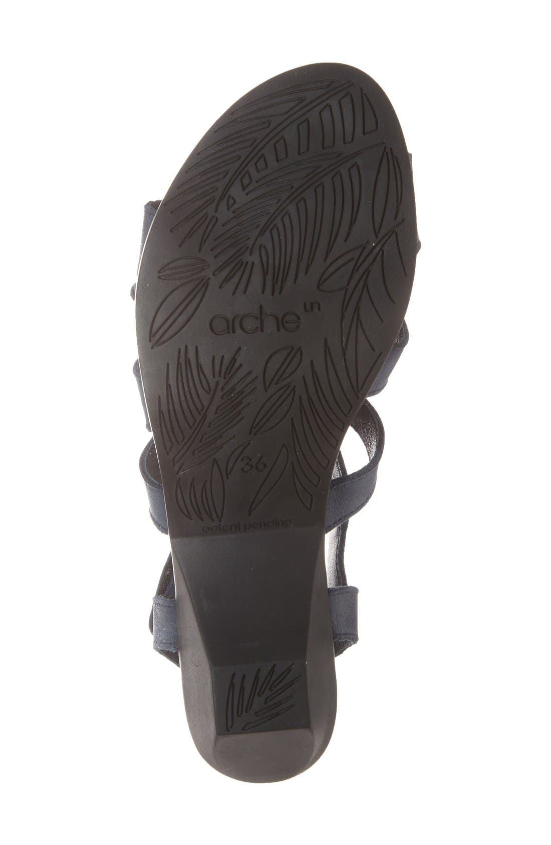 'Obela' Water Resistant Leather Sandal,                             Alternate thumbnail 23, color,