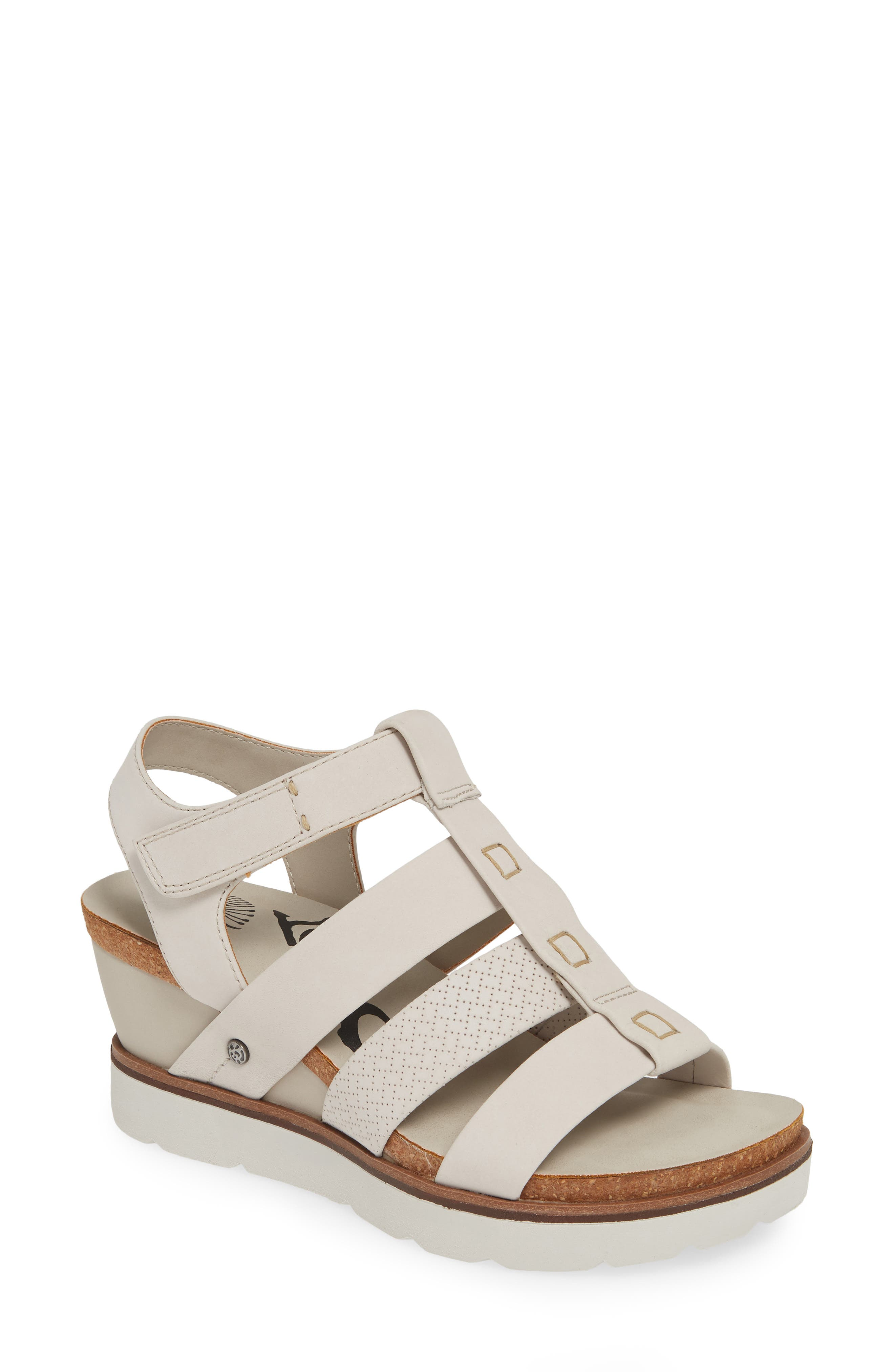 New Moon Wedge Sandal,                             Main thumbnail 1, color,                             DOVE GREY LEATHER