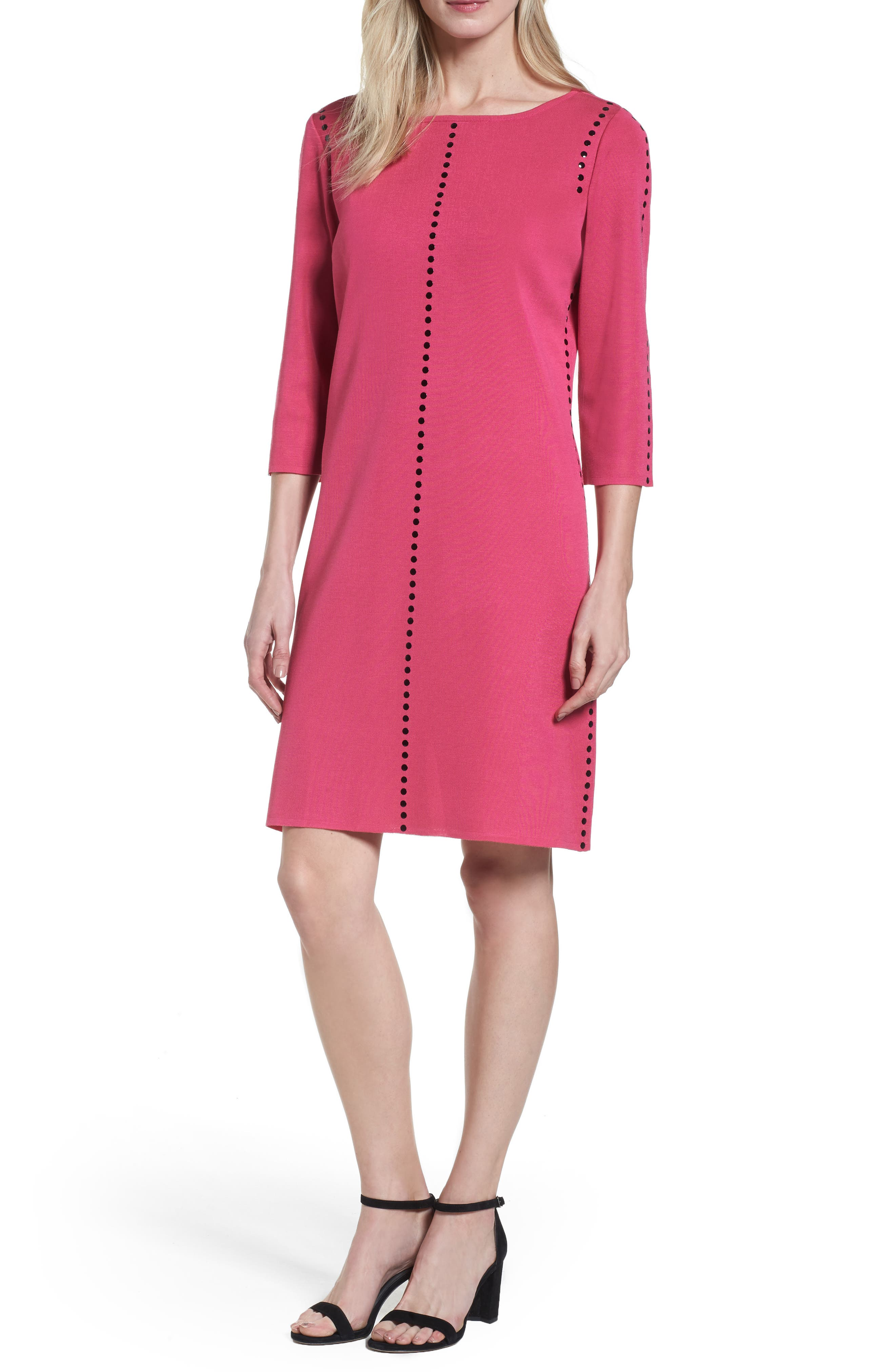 Studded Sweater Dress,                             Main thumbnail 1, color,                             643