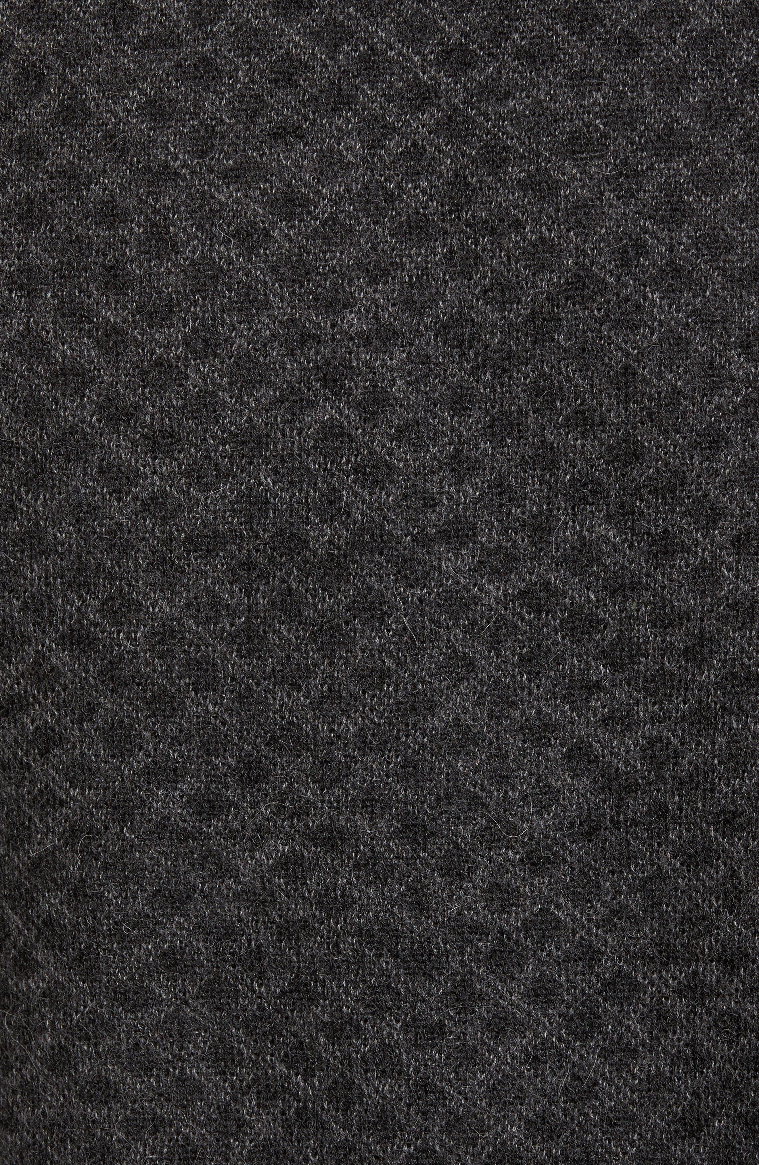 Diamond Quarter Zip Alpaca Sweater,                             Alternate thumbnail 5, color,                             020
