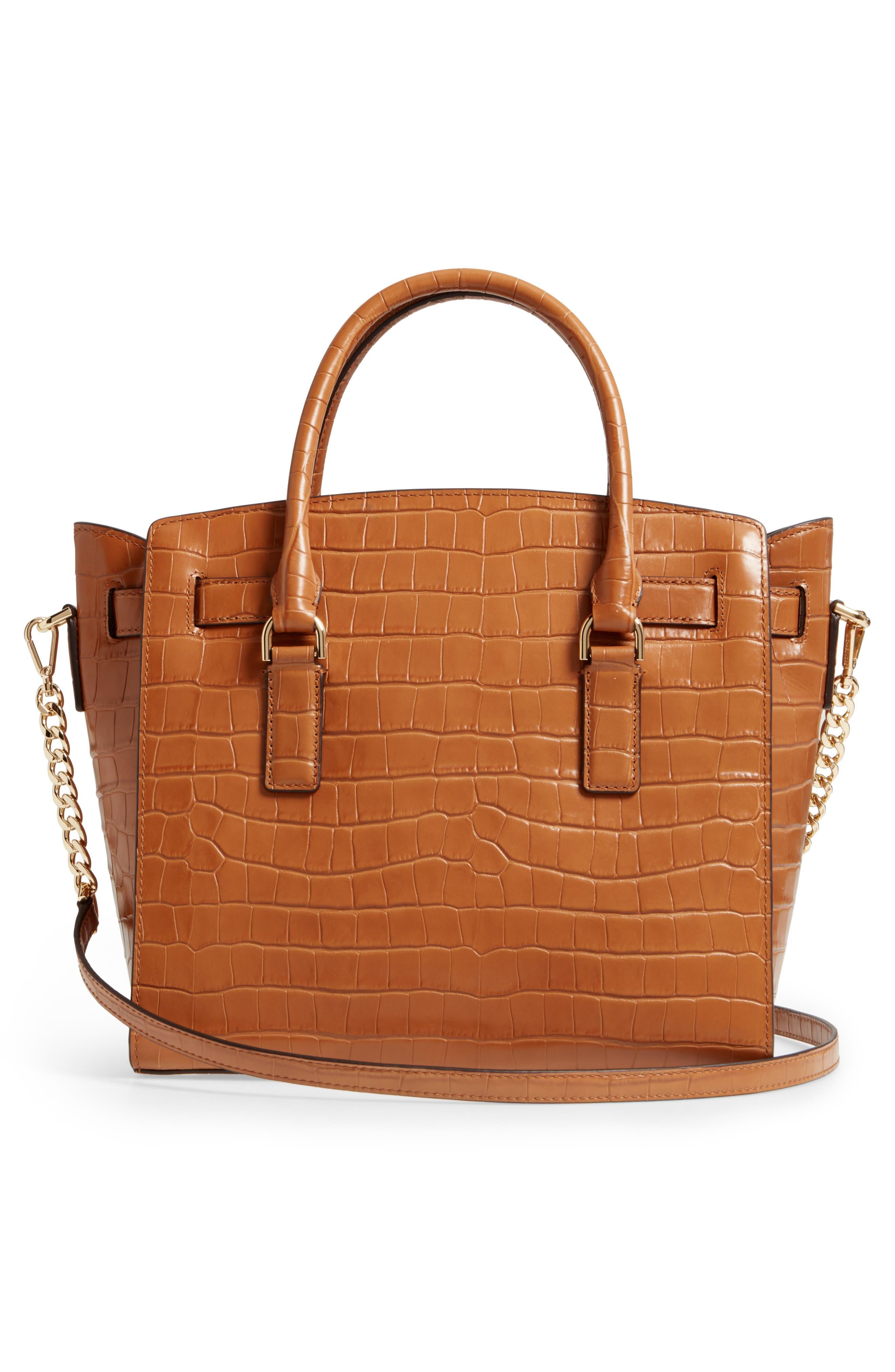 Large Hamilton Leather Satchel,                             Alternate thumbnail 3, color,