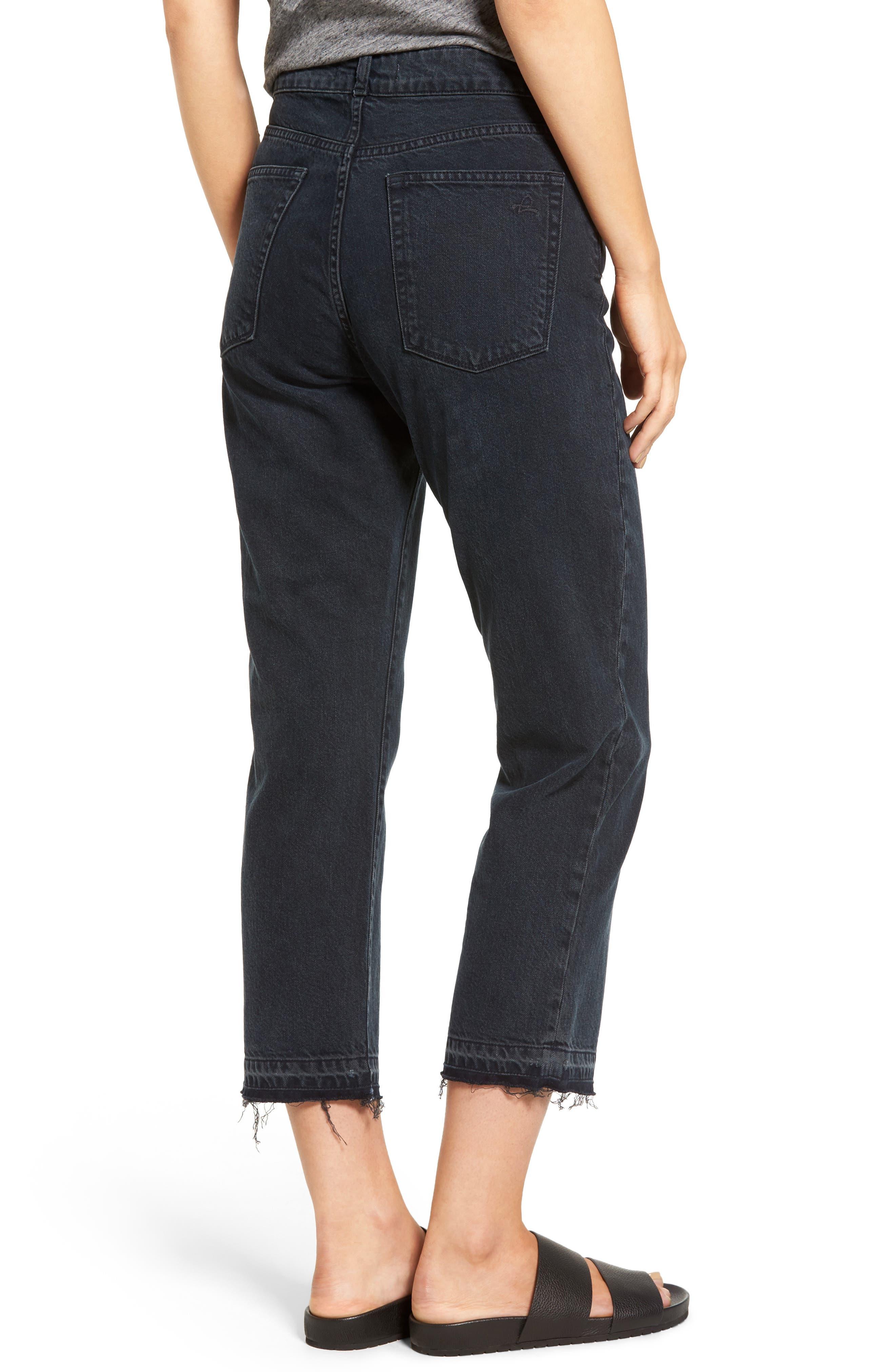Patti High Rise Straight Leg Jeans,                             Alternate thumbnail 2, color,                             002