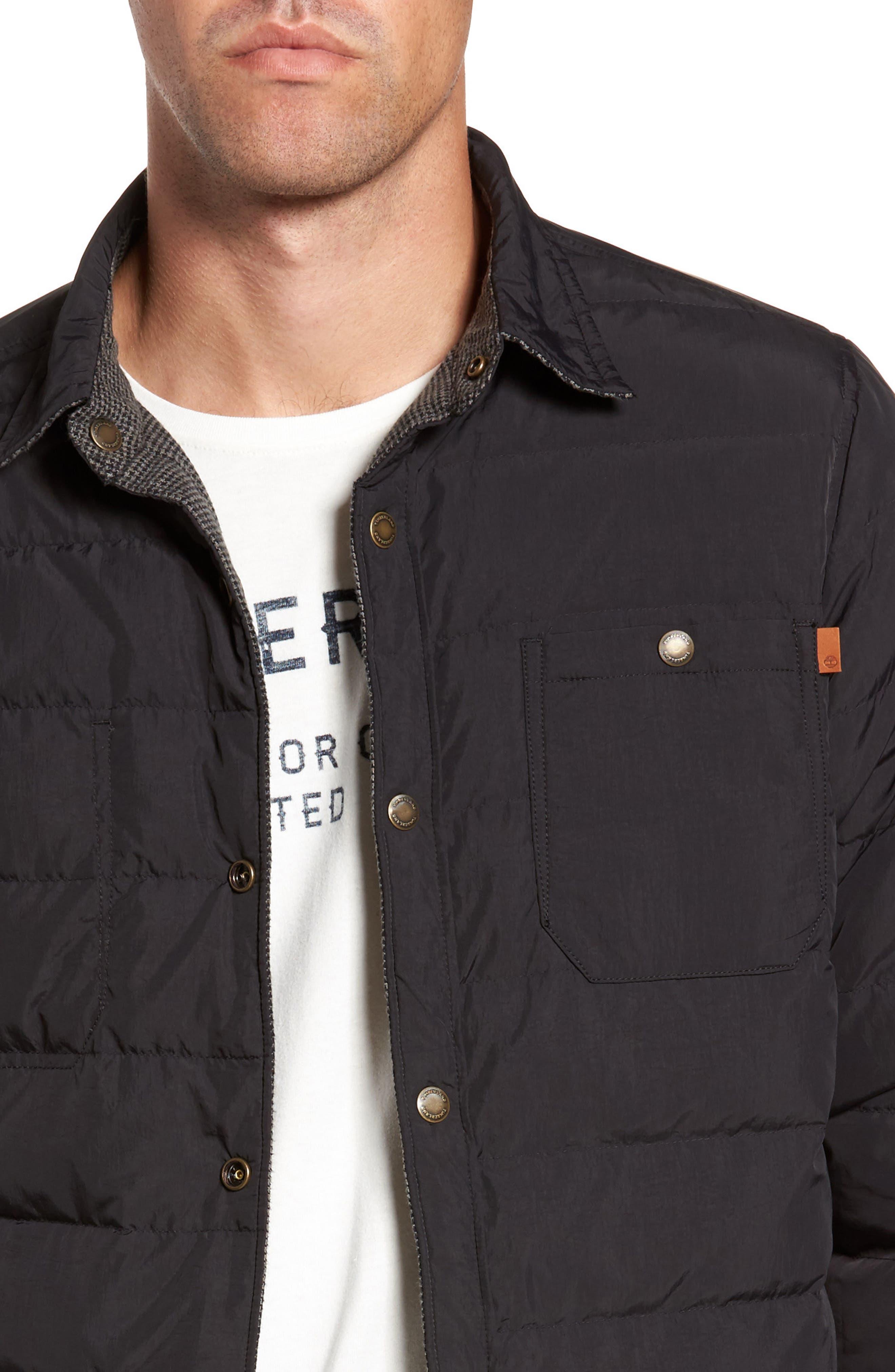 Gunstock River Reversible Down Shirt Jacket,                             Alternate thumbnail 4, color,                             001