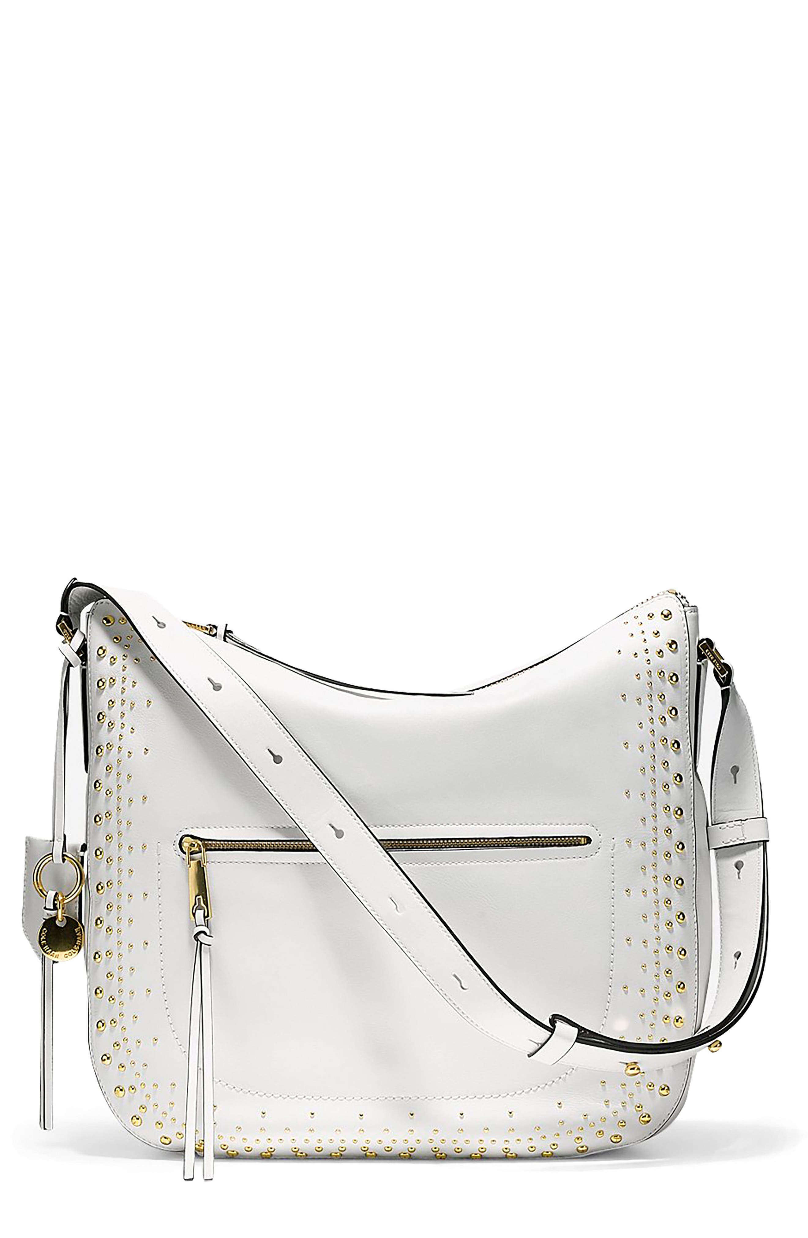 Marli Studded Leather Bucket Hobo,                         Main,                         color,