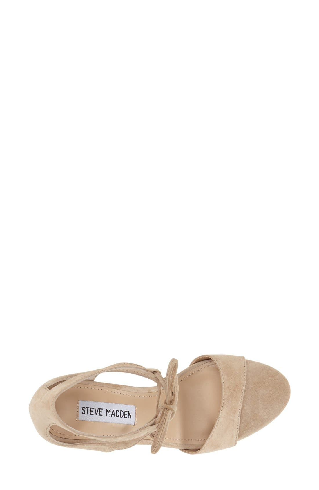 'Salsaa' Lace-Up Ankle Strap Sandal,                             Alternate thumbnail 8, color,