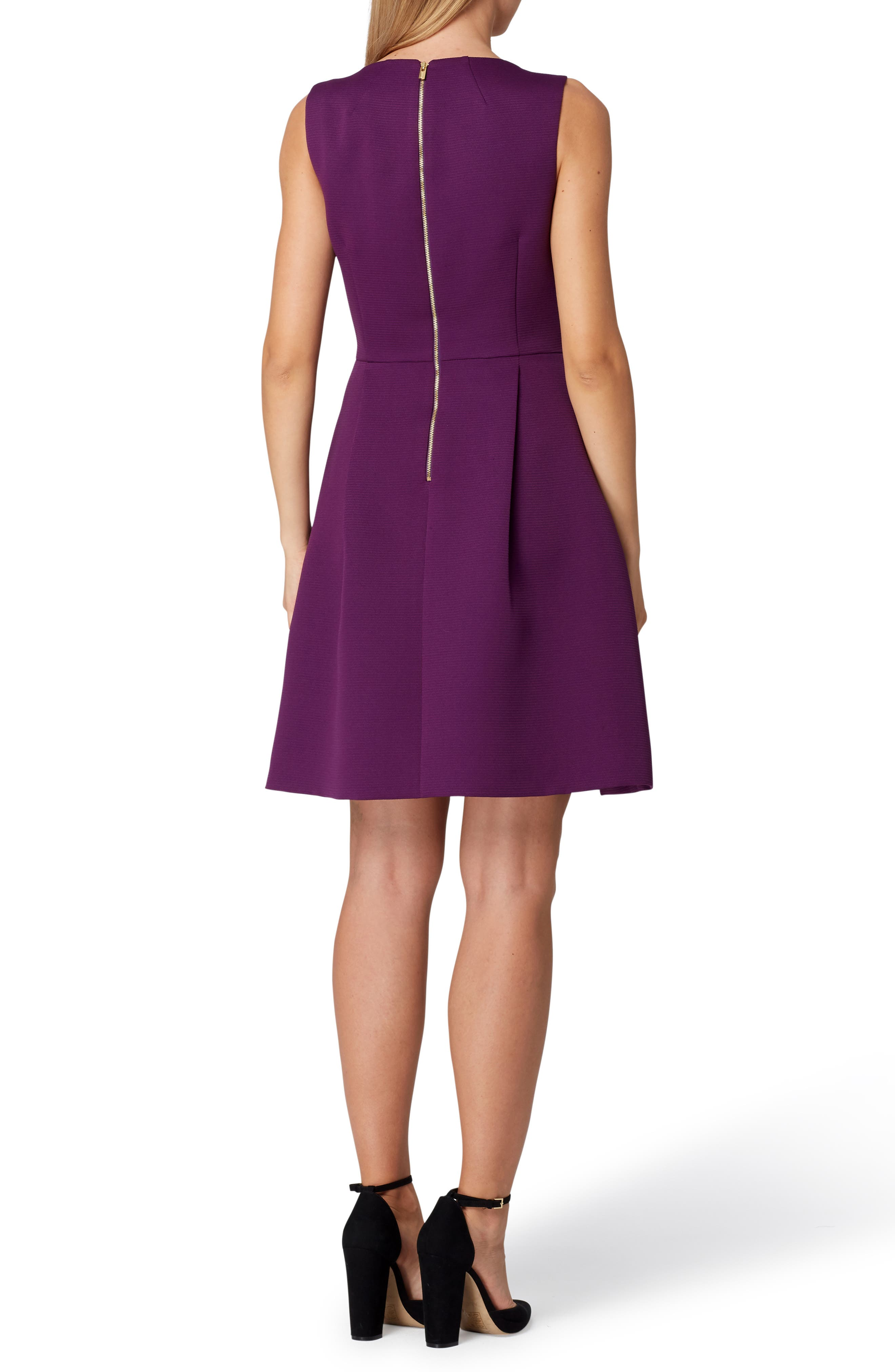 Sleeveless Bow Waist Fit & Flare Dress,                             Alternate thumbnail 2, color,                             515