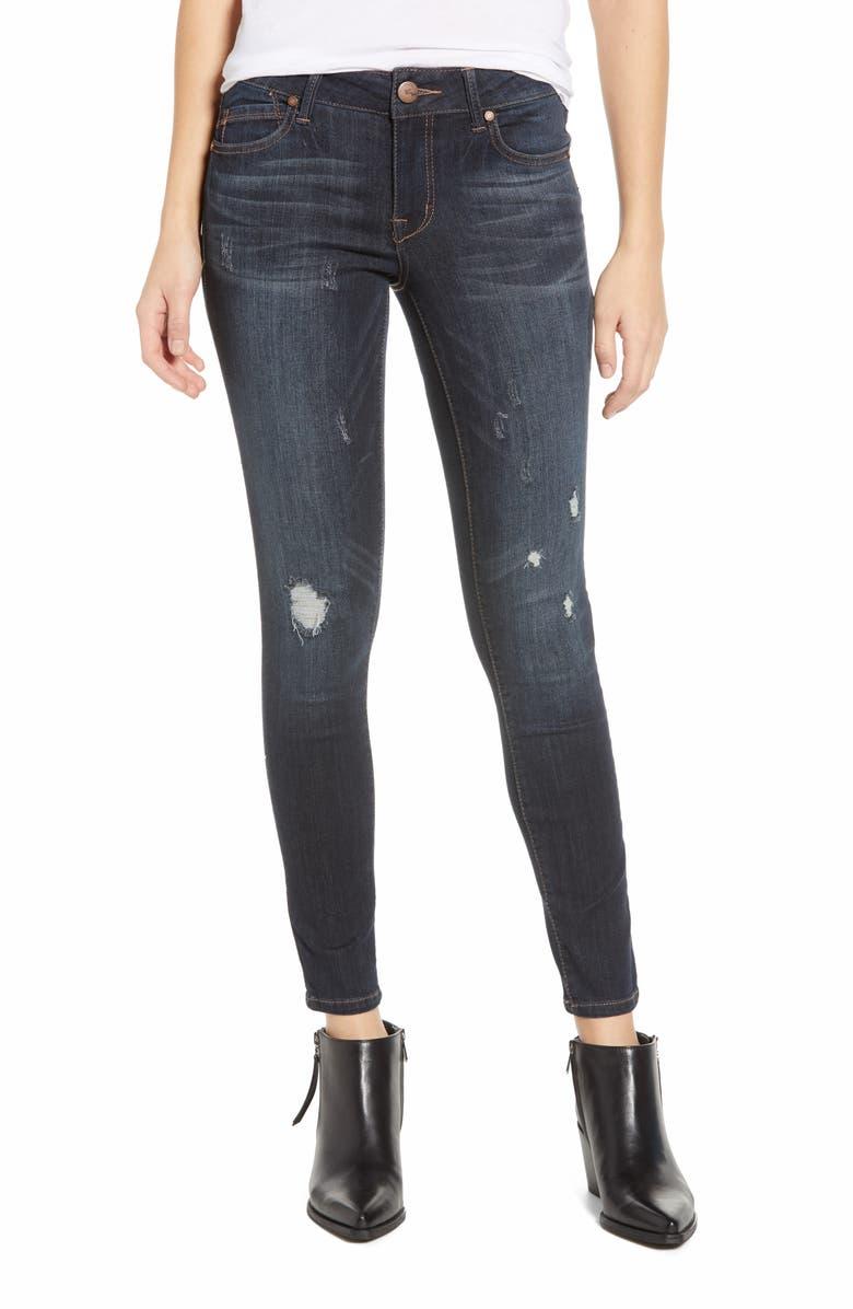 49682f1026a 1822 Denim Distressed Ankle Skinny Jeans