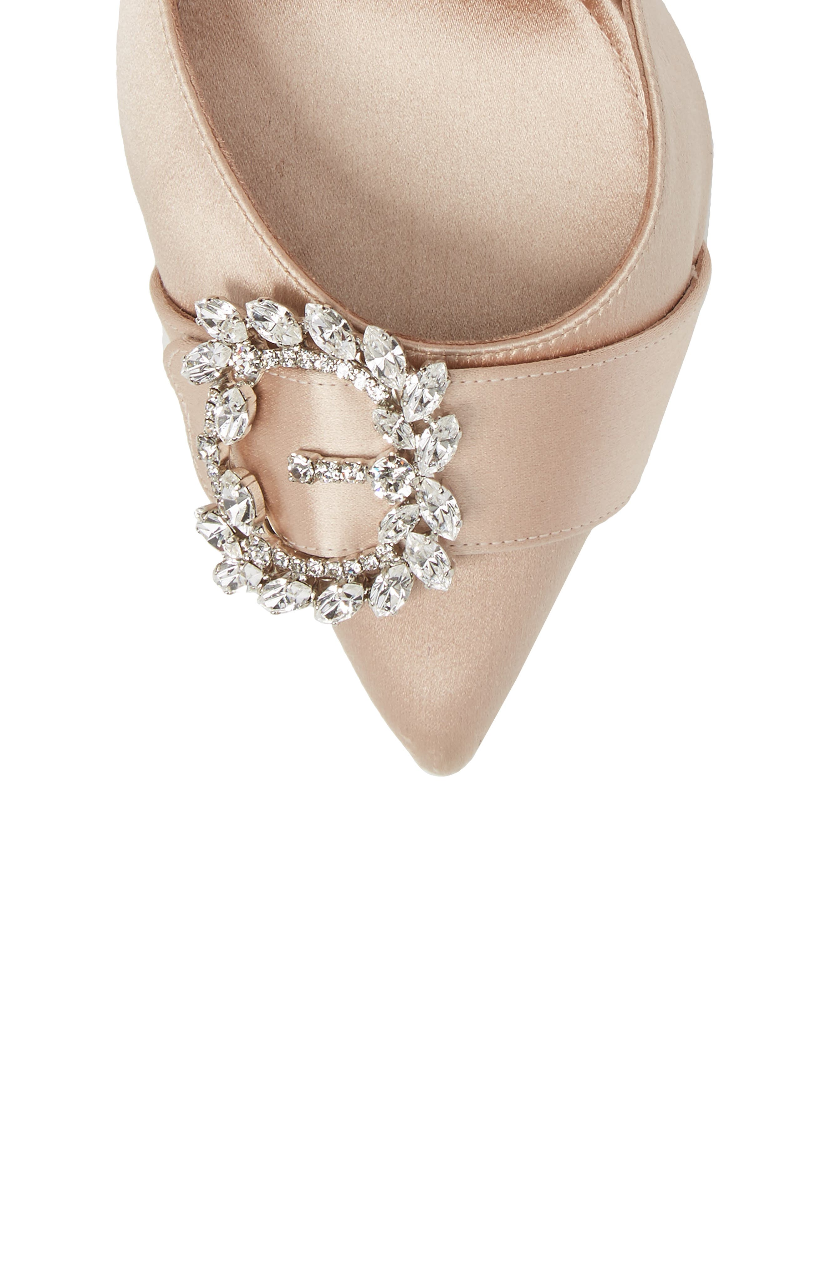 Tie The Knot Crystal Buckle Pump,                             Alternate thumbnail 5, color,                             250