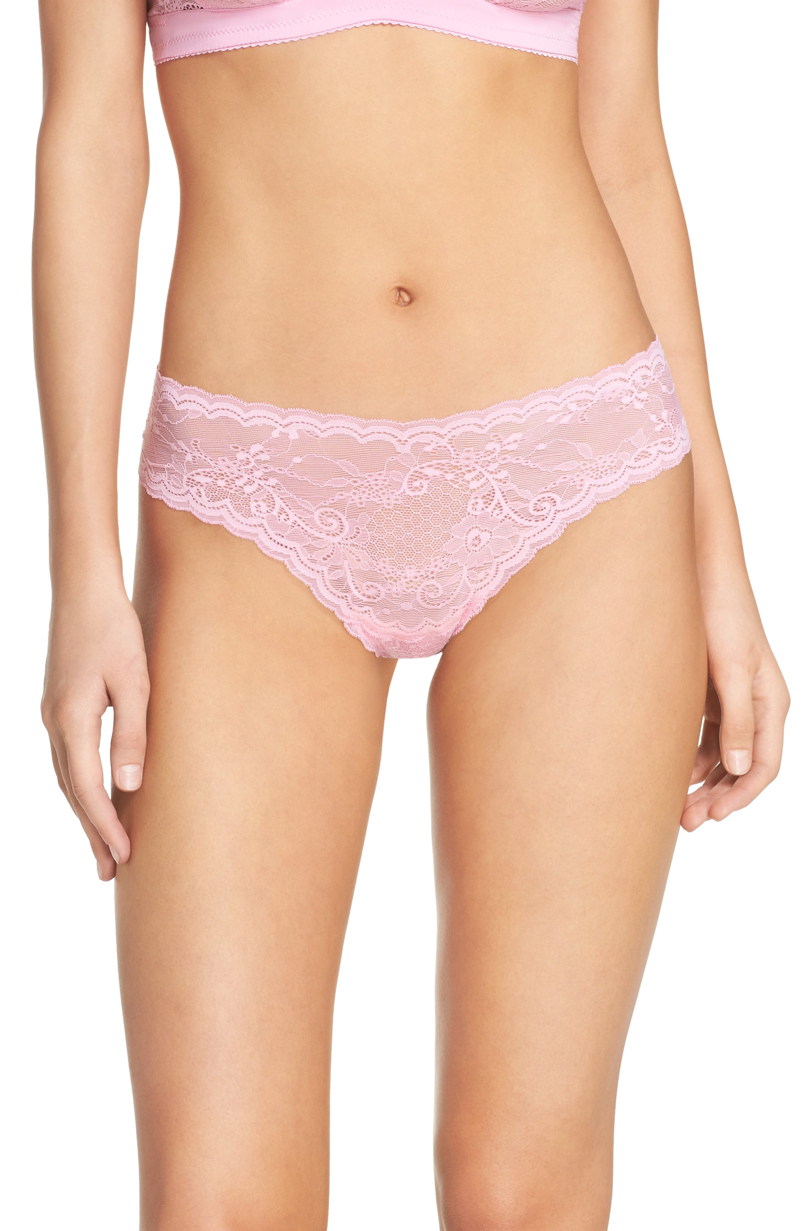 'Trenta' Low Rise Lace Thong,                             Alternate thumbnail 67, color,