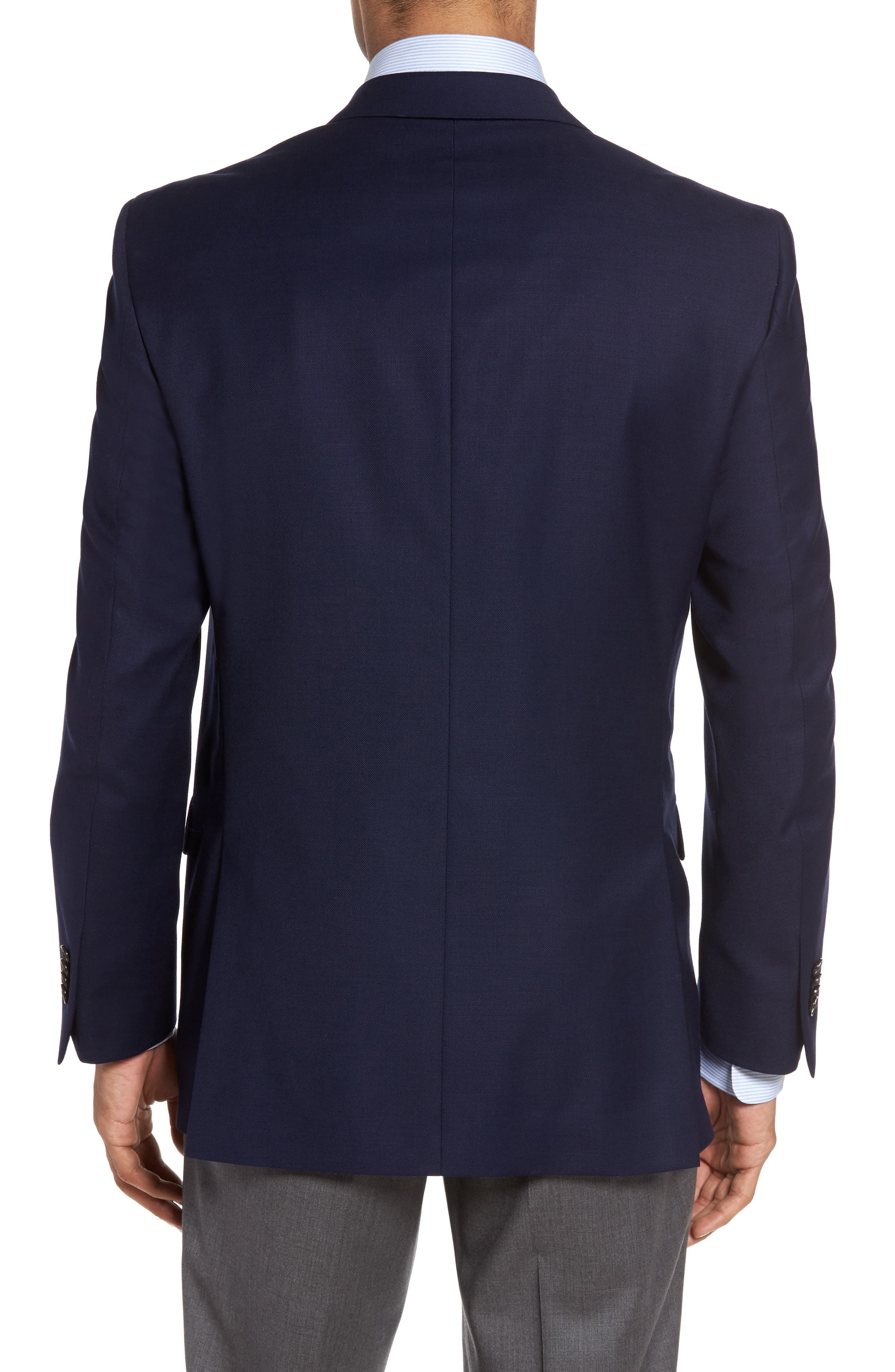 Flynn Classic Fit Wool Blazer,                             Alternate thumbnail 2, color,                             NAVY