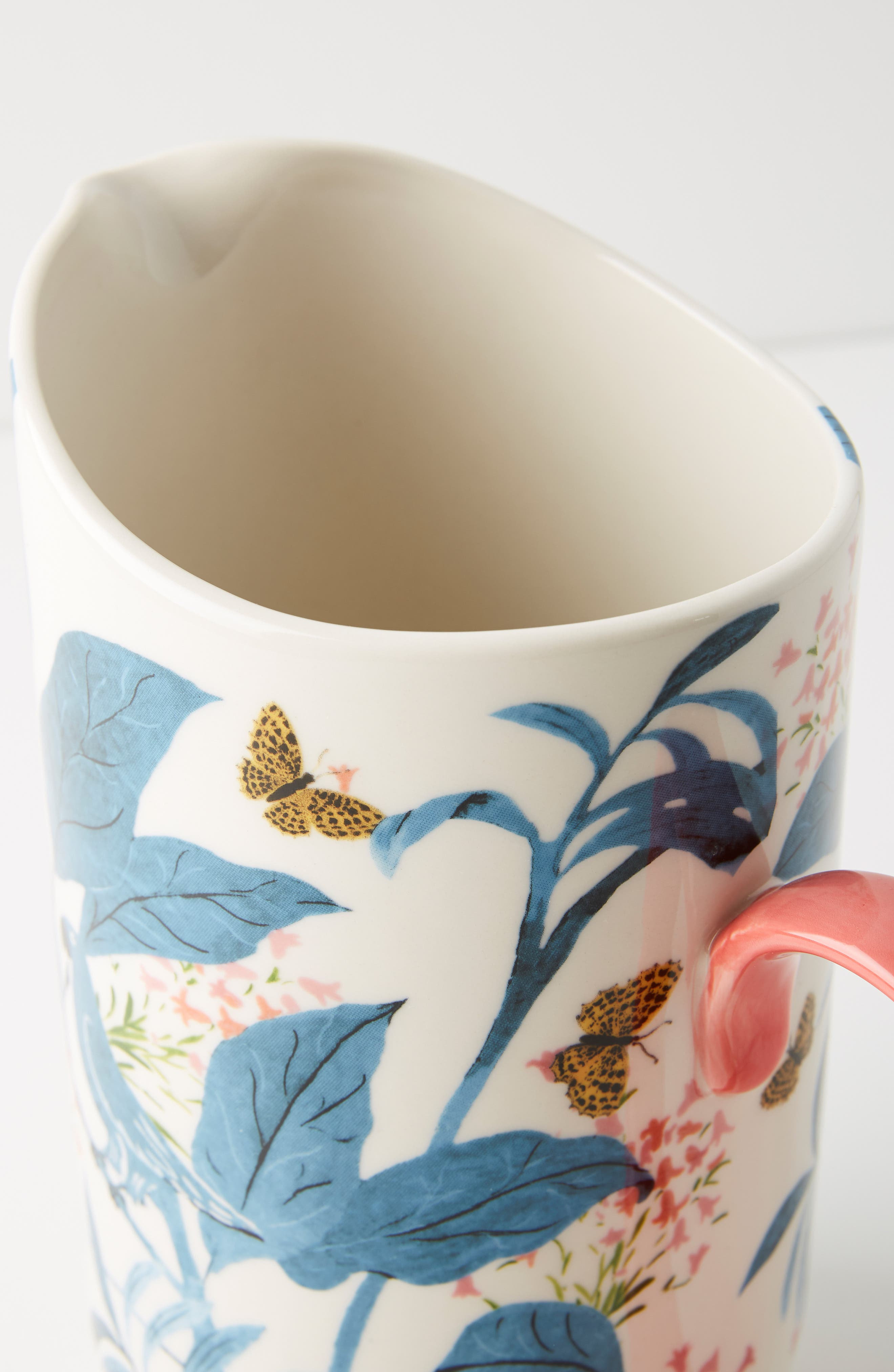 ANTHROPOLOGIE,                             Paule Marrot Butterfly Pitcher,                             Alternate thumbnail 3, color,                             BLUE