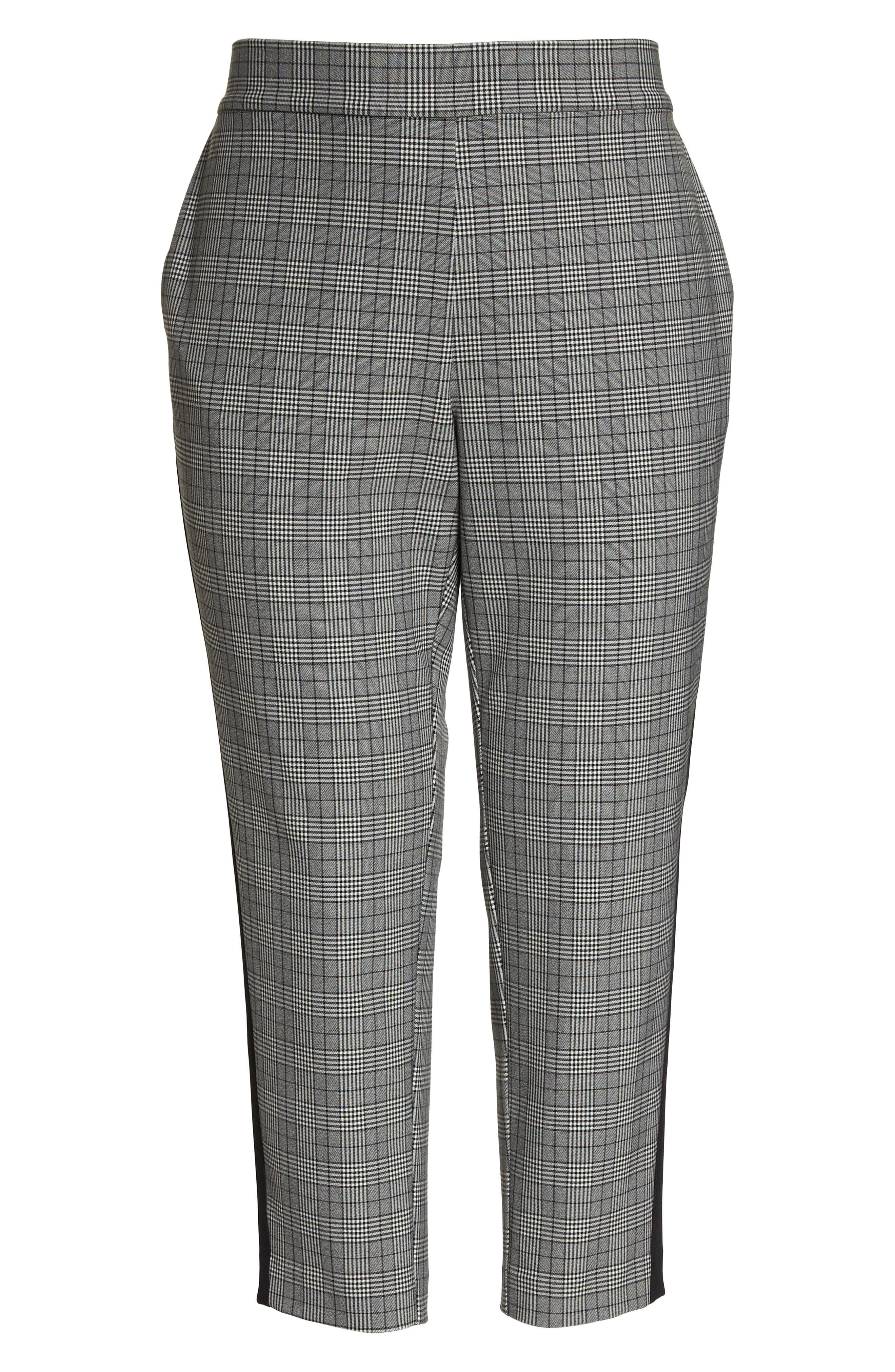 Menswear Crop Pants,                             Alternate thumbnail 6, color,                             HEATHER GREY COMBO