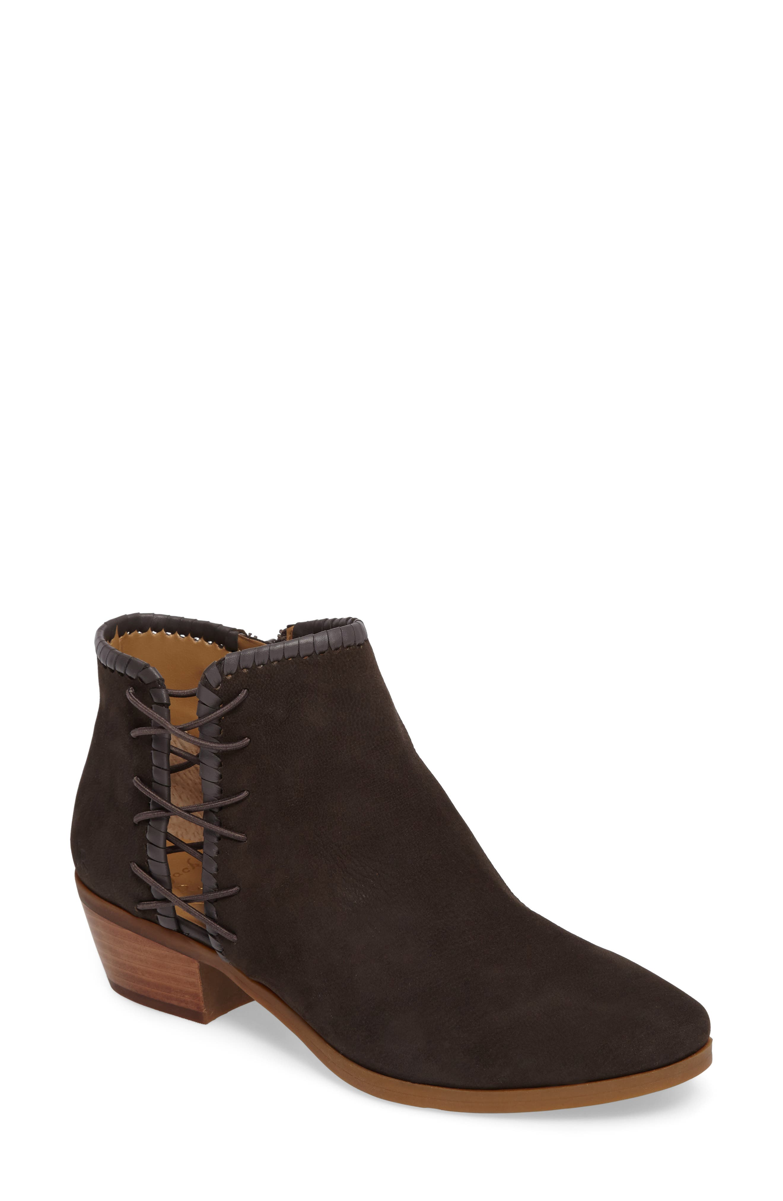 Reagan Split Shaft Bootie,                         Main,                         color, CHARCOAL LEATHER