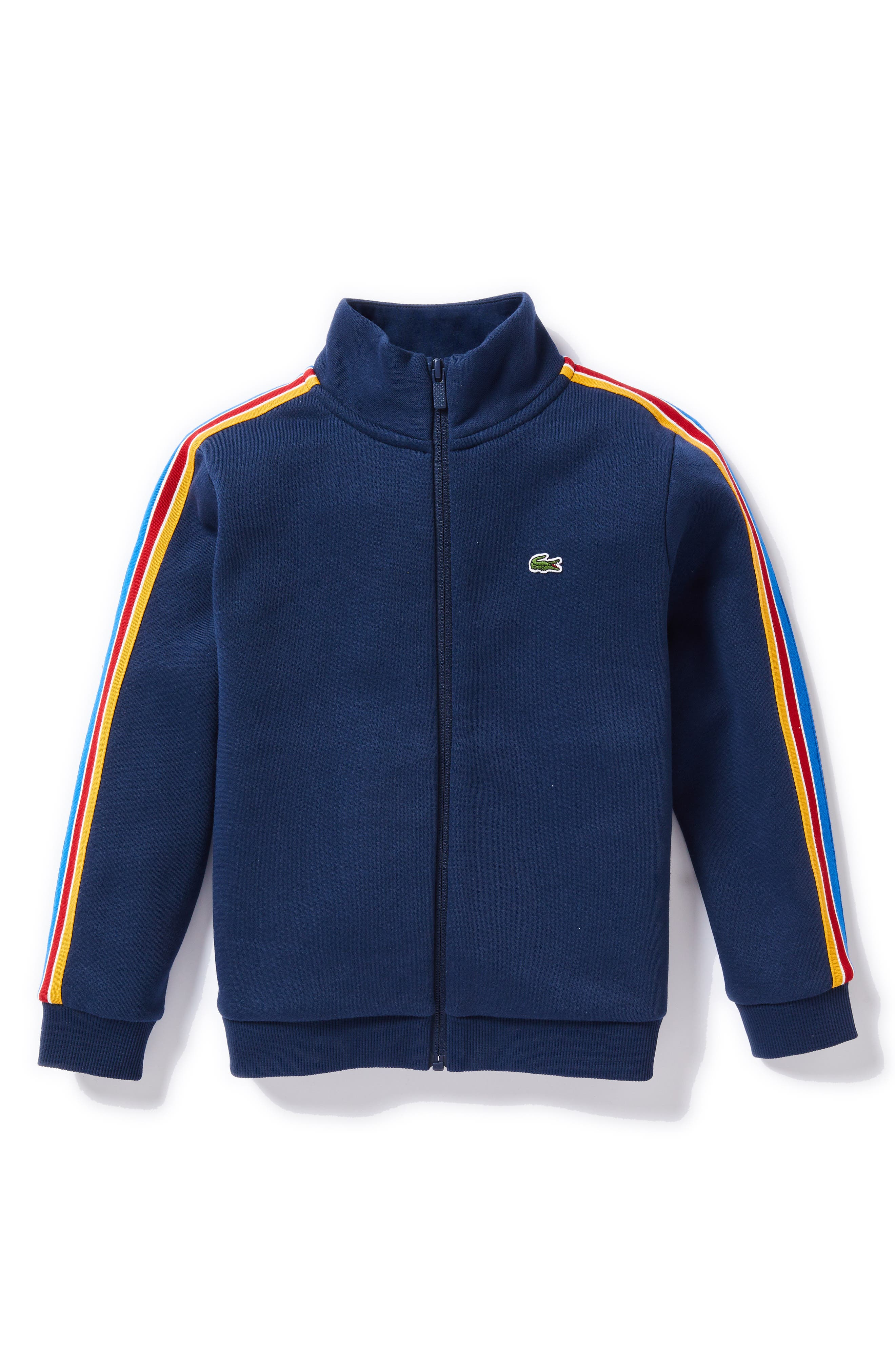 Athleisure Zip Jacket,                             Main thumbnail 1, color,                             NAVY BLUE