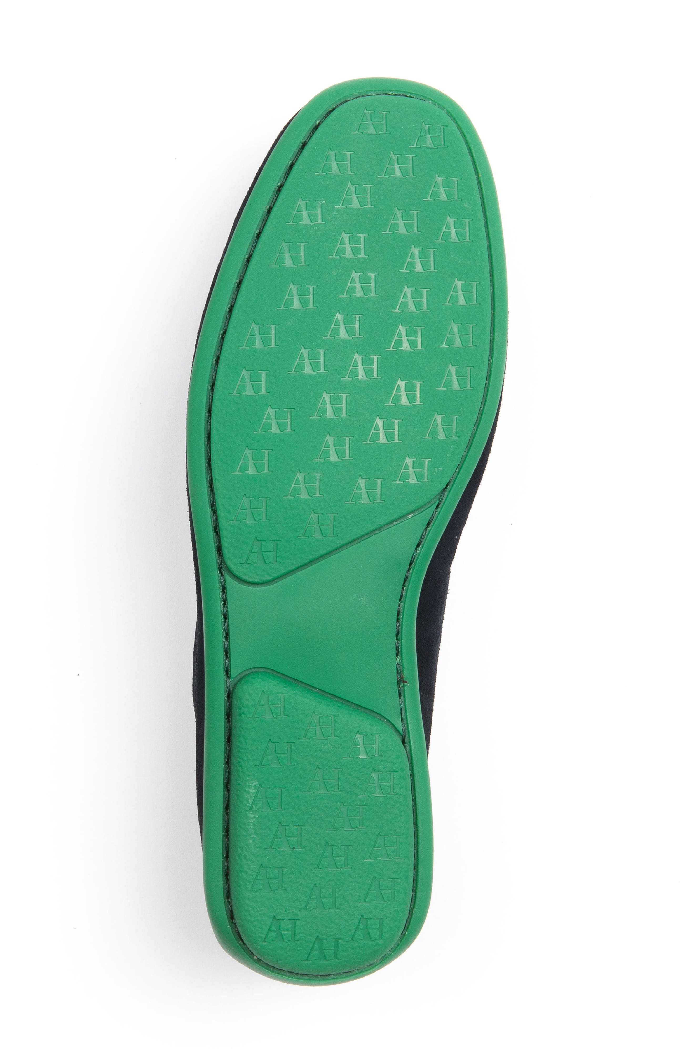 'Chathams' Penny Loafer,                             Alternate thumbnail 6, color,                             NAVY SUEDE/ GREEN