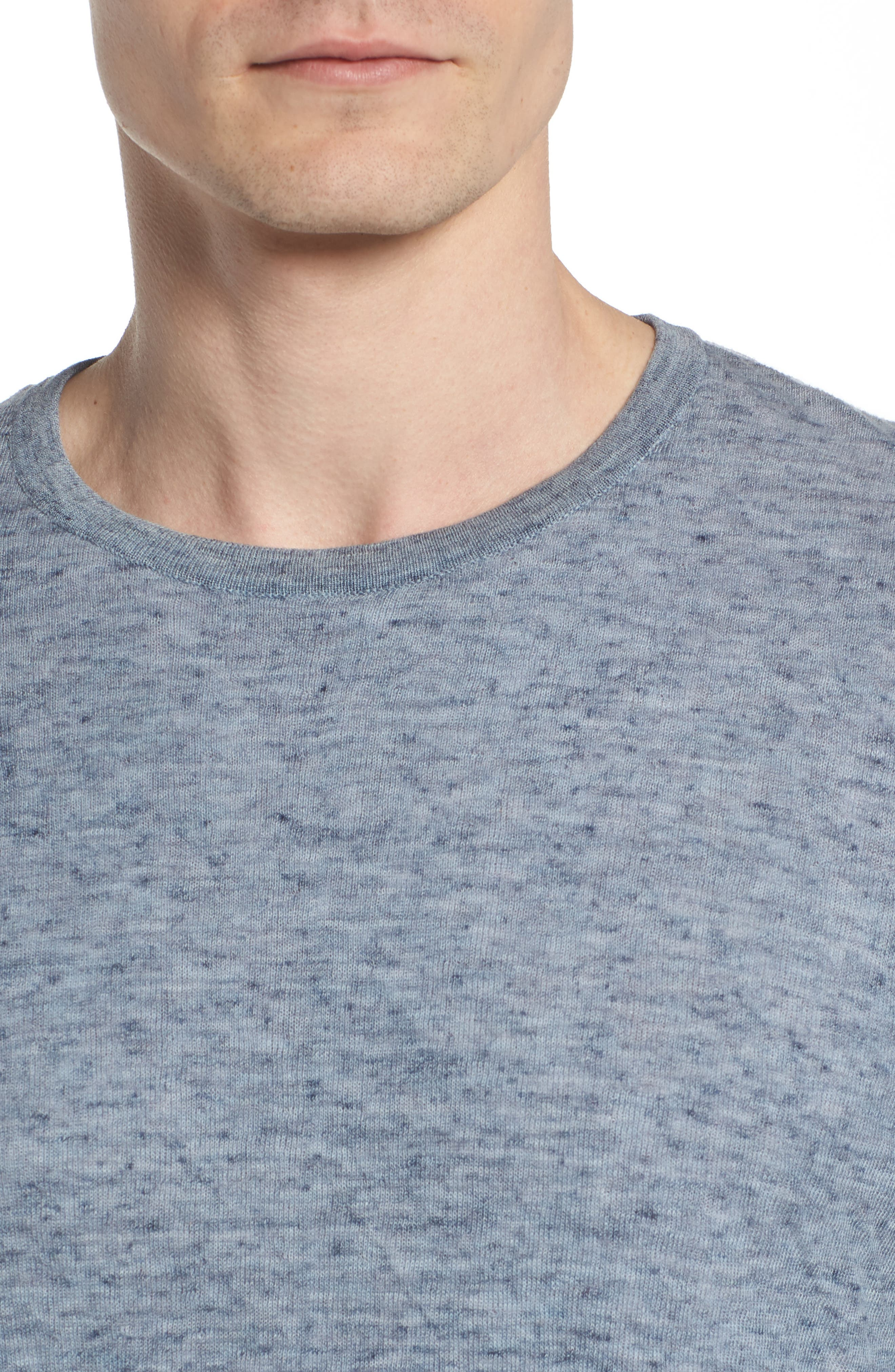 Tripp Regular Fit Crewneck Shirt,                             Alternate thumbnail 4, color,                             LIGHT BLUE