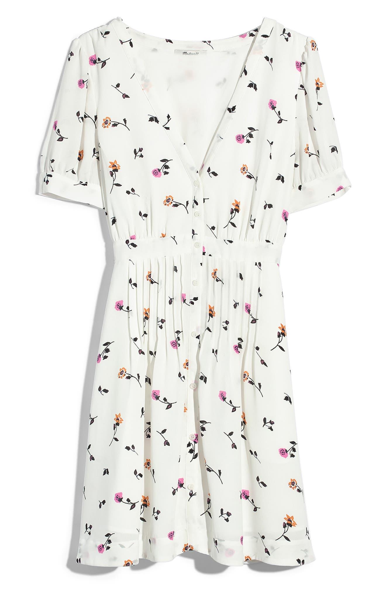 Daylily Pintuck Dress,                             Alternate thumbnail 7, color,                             WHITE WASH