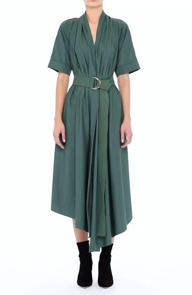 Asymmetrical Cotton Poplin Dress, video thumbnail