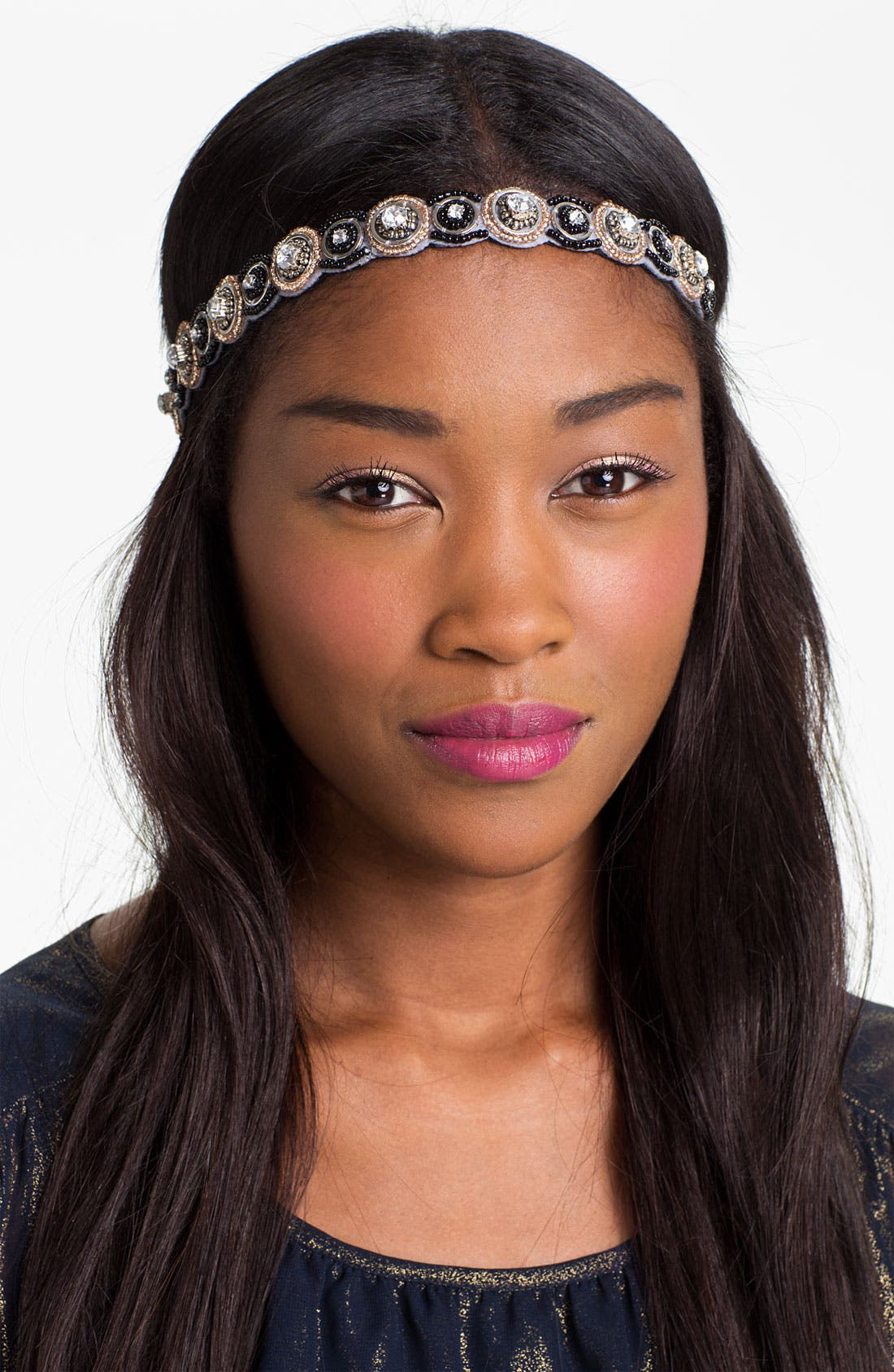 Embellished Headband,                         Main,                         color, 001