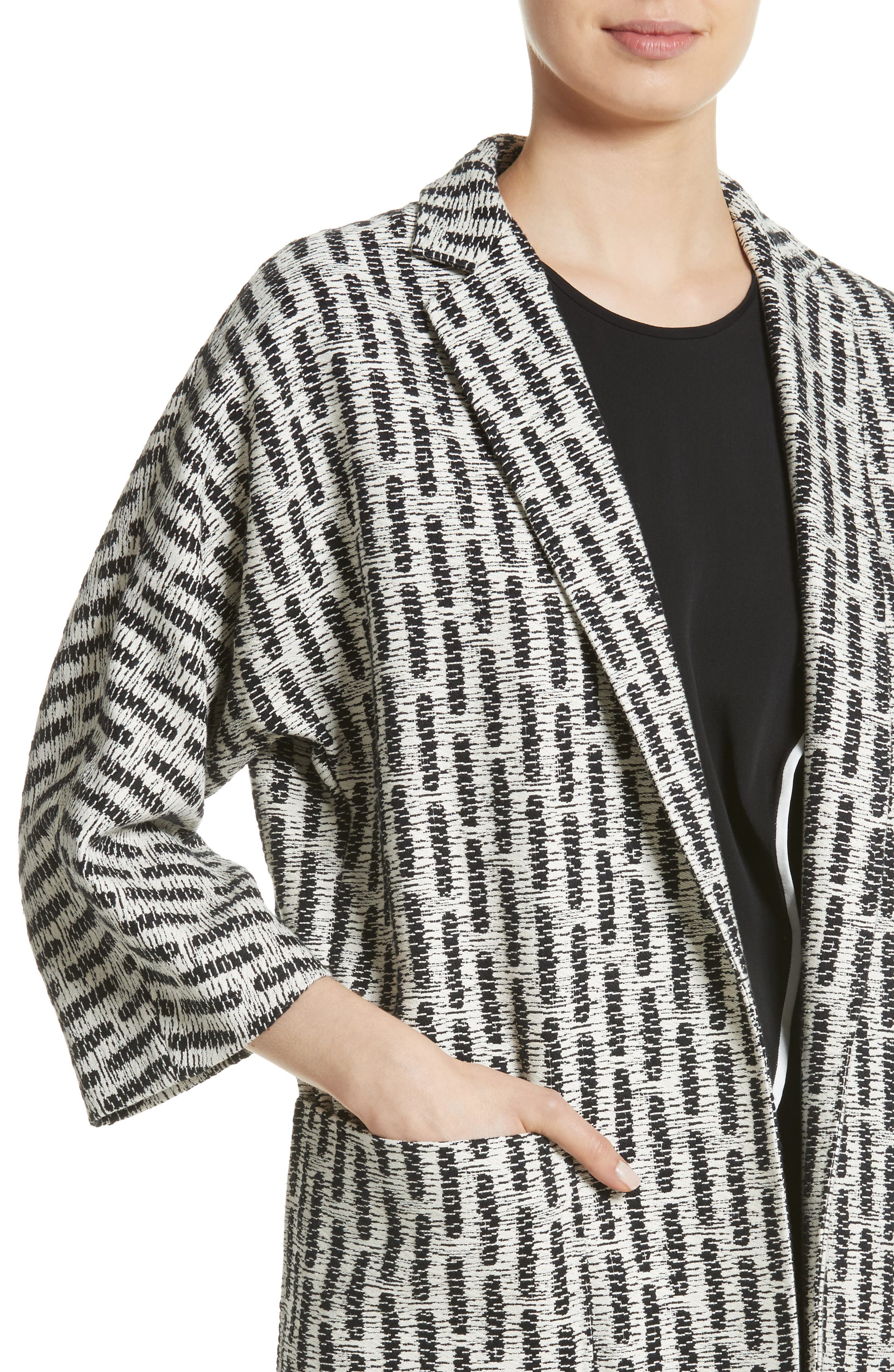 Ottone Jacquard Jacket,                             Alternate thumbnail 4, color,