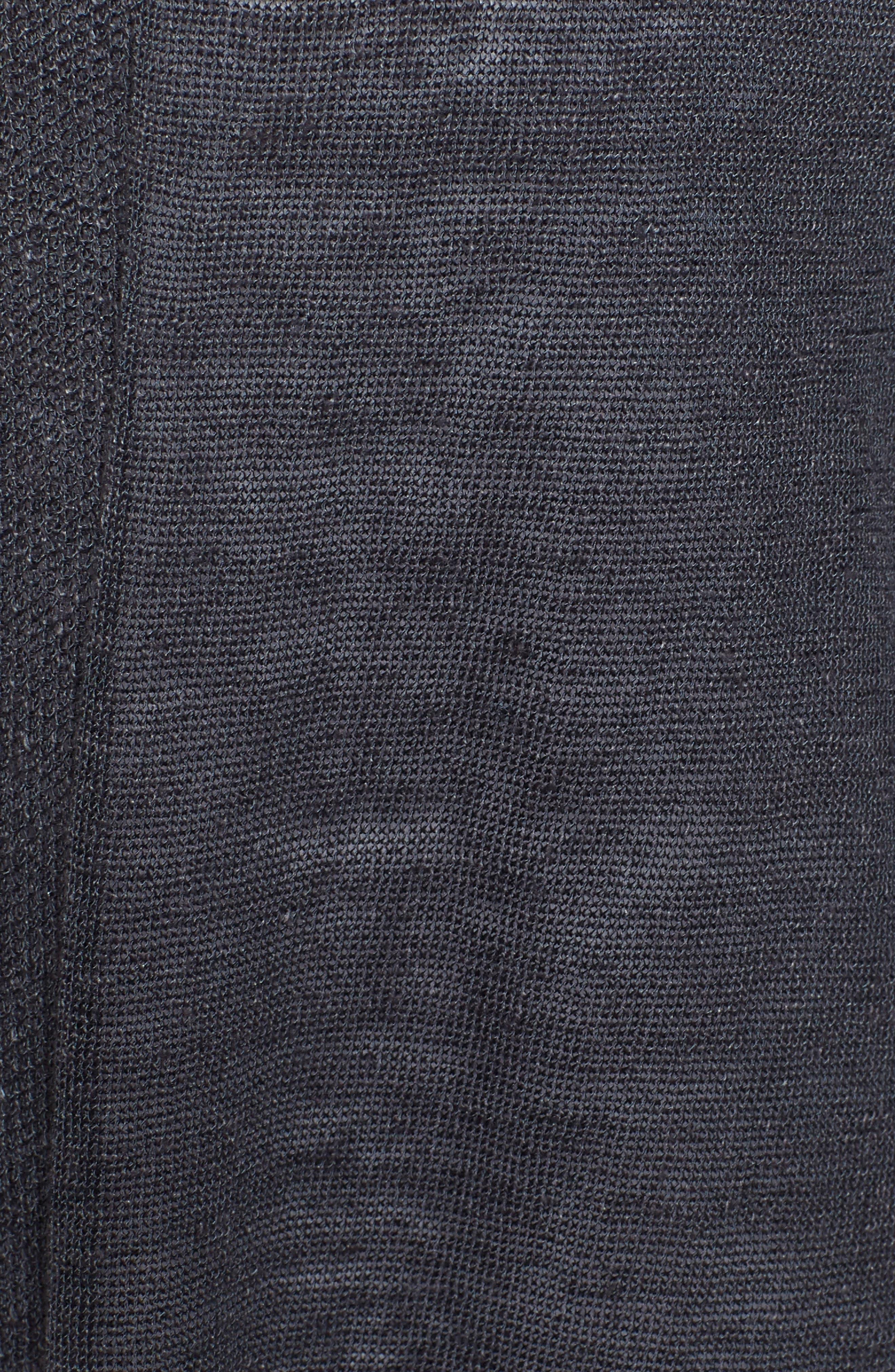 Long Linen Blend Cardigan,                             Alternate thumbnail 6, color,                             099