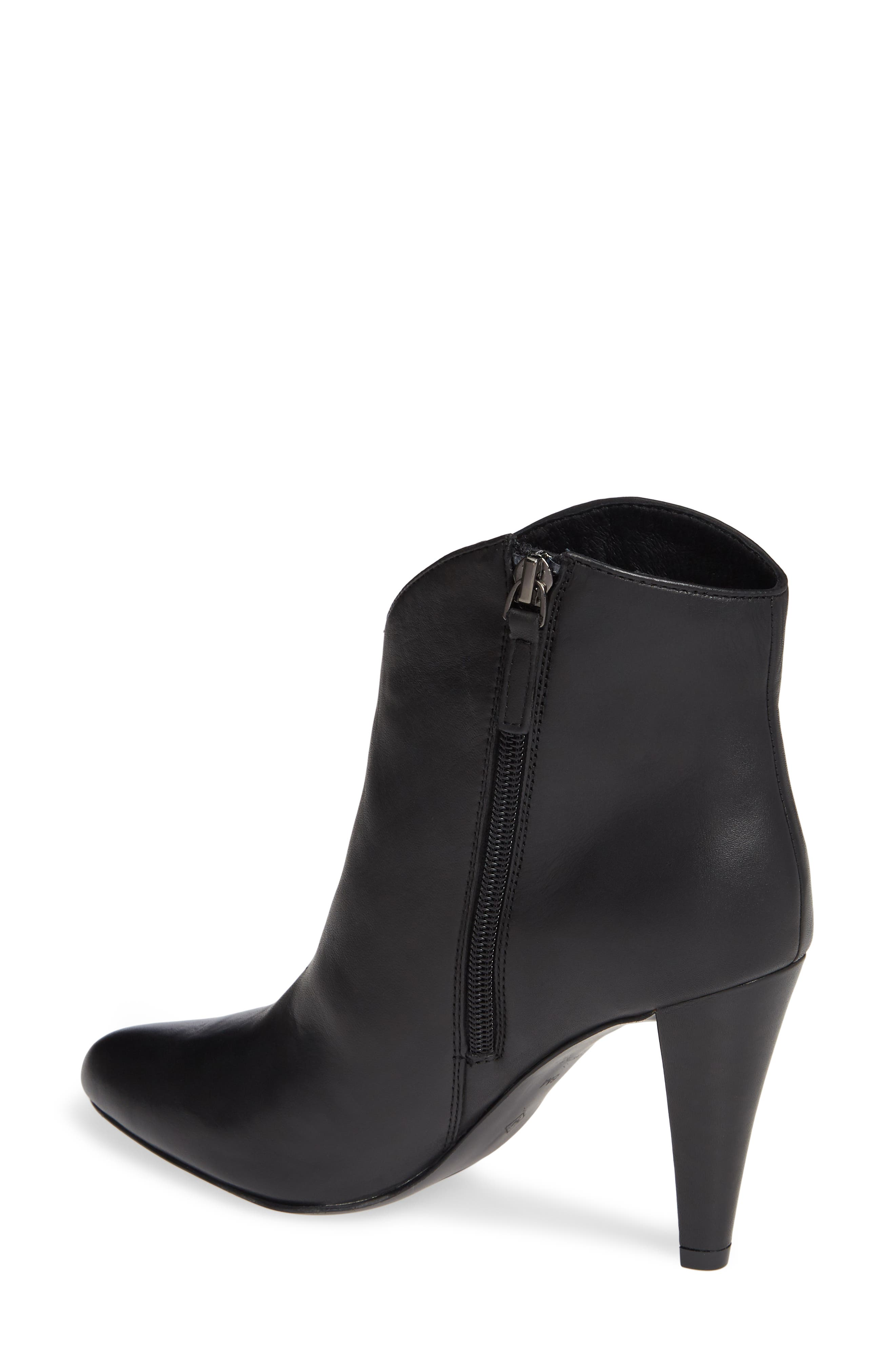 Makayla Bootie,                             Alternate thumbnail 2, color,                             BLACK LEATHER