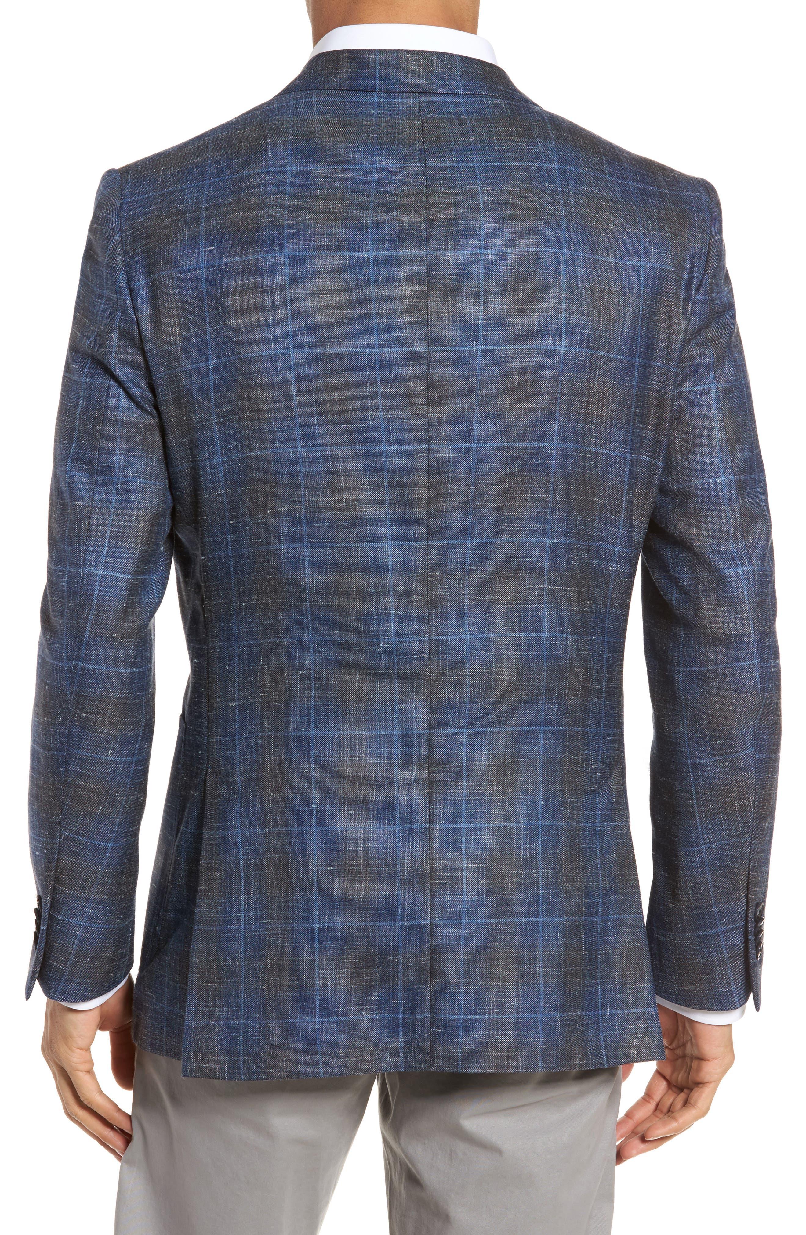 Classic Fit Plaid Wool Blend Sport Coat,                             Alternate thumbnail 2, color,                             400