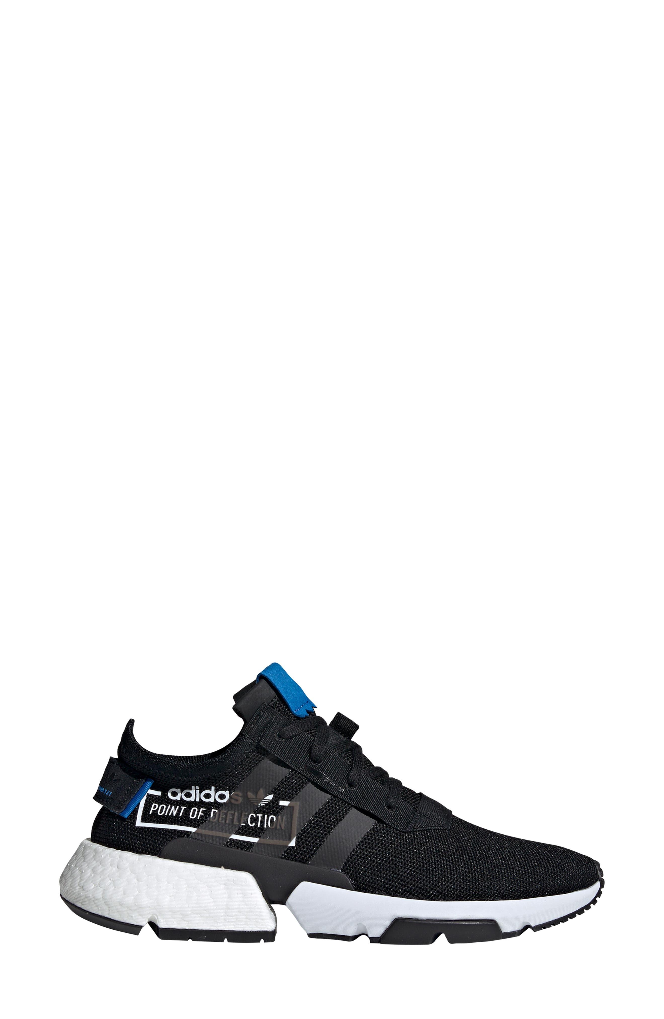 Pod S3.1 Sneaker,                             Alternate thumbnail 3, color,                             BLACK/ BLACK/ BLUEBIRD