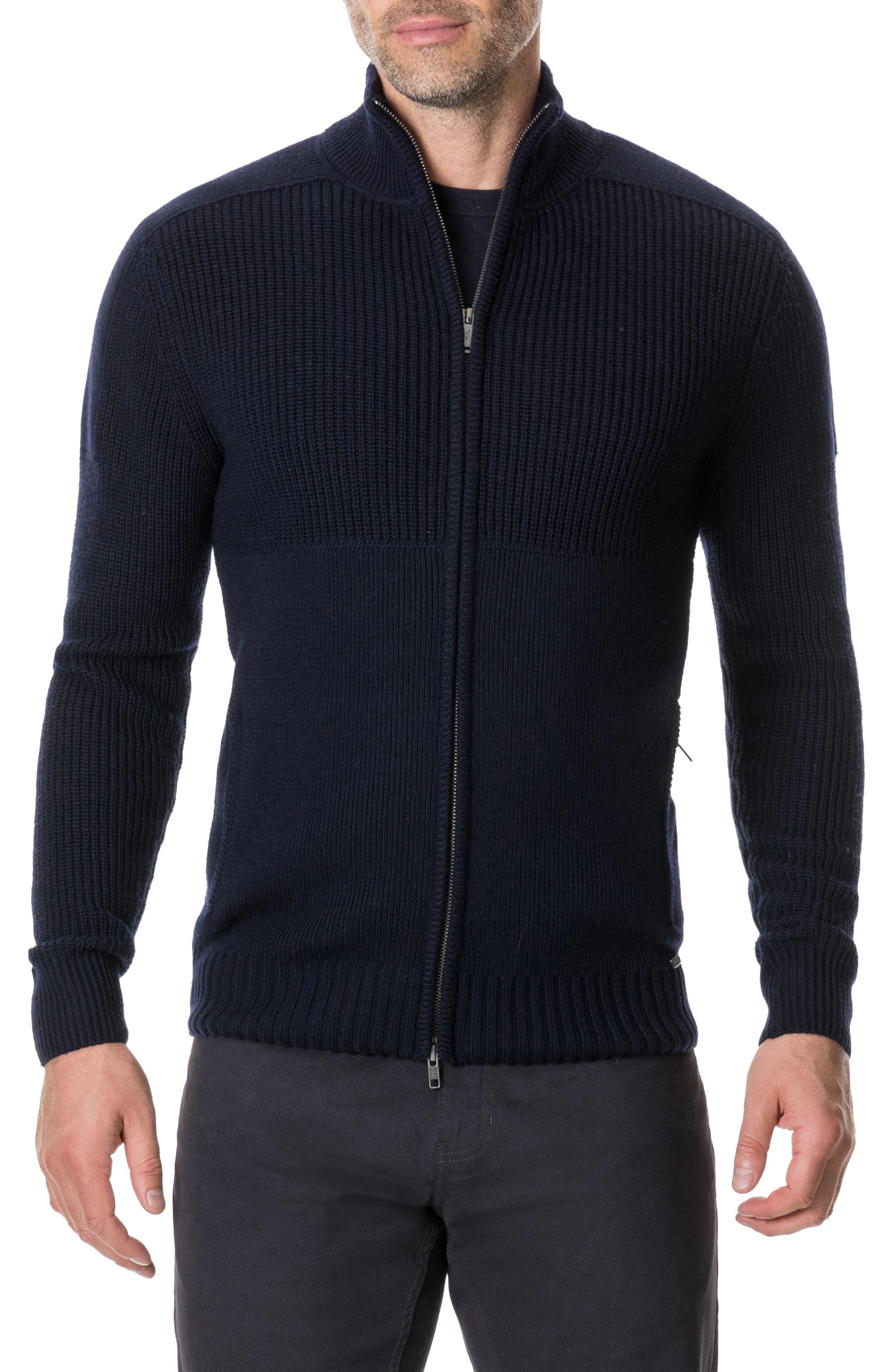 Kina Beach Merino Wool Zip Sweater,                         Main,                         color, 400