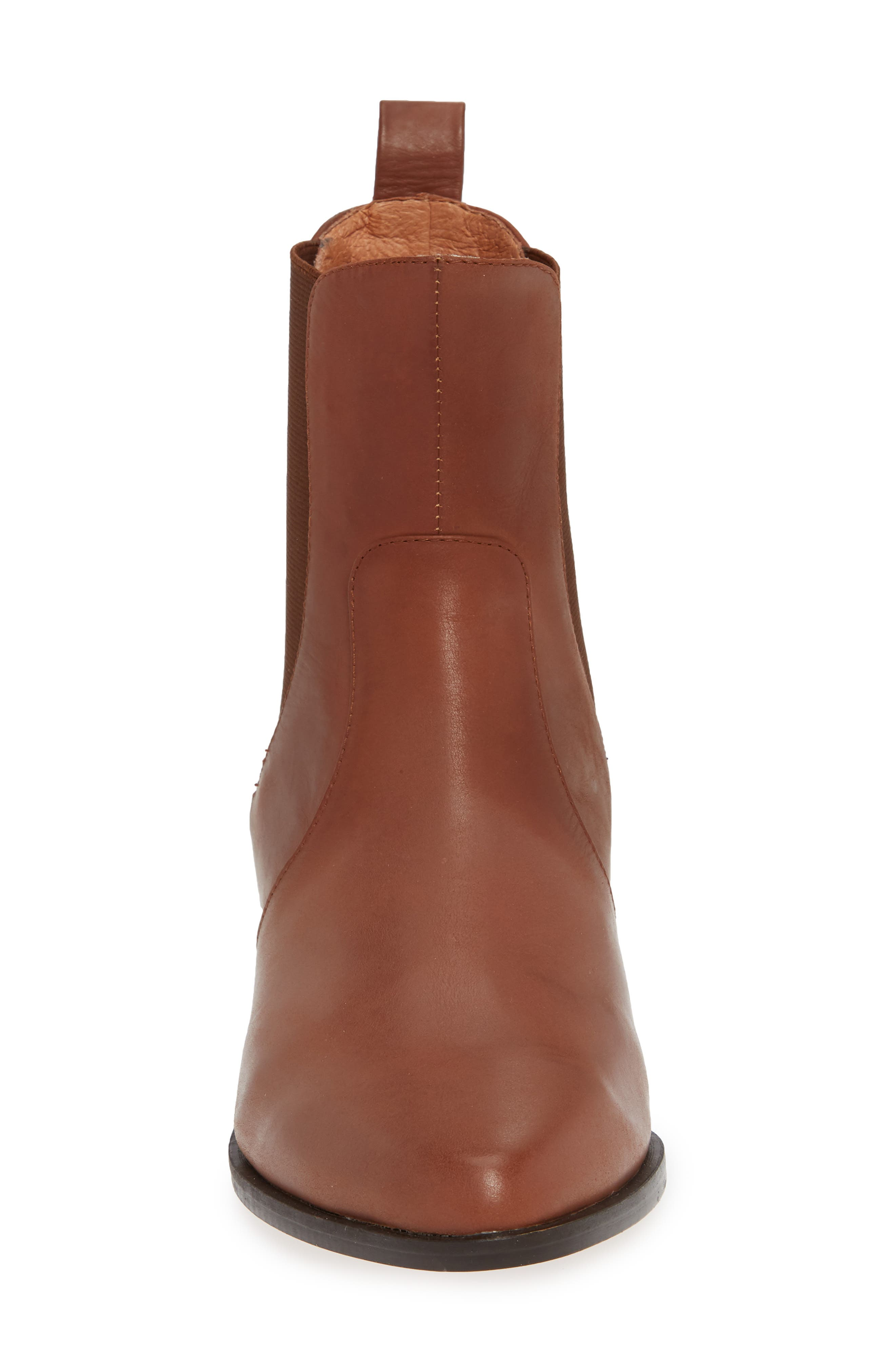 Genesis Bootie,                             Alternate thumbnail 4, color,                             TAN LEATHER