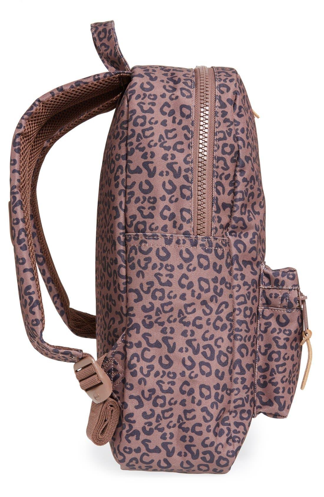'Settlement - Leopard Print' Backpack,                             Alternate thumbnail 3, color,                             001