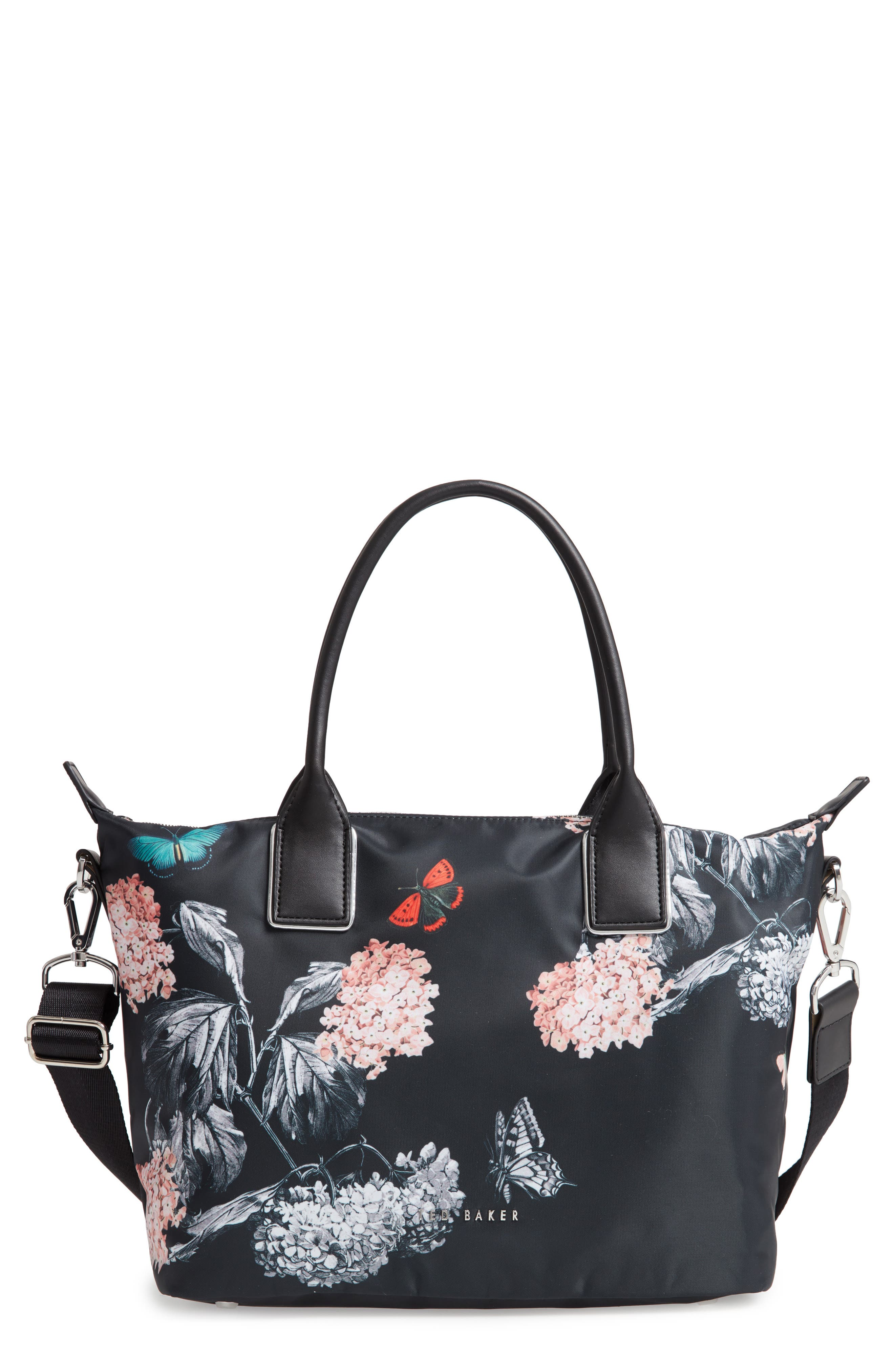 Small Margey Narrnia Print Tote,                         Main,                         color, BLACK