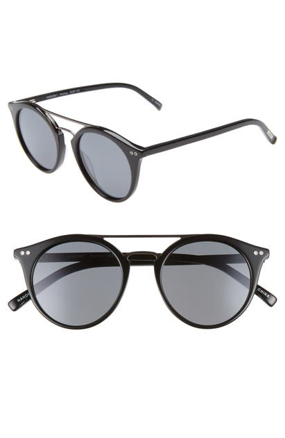 Eyebobs Sunglasses PUTTER 48MM POLARIZED ROUND SUNGLASSES - BLACK